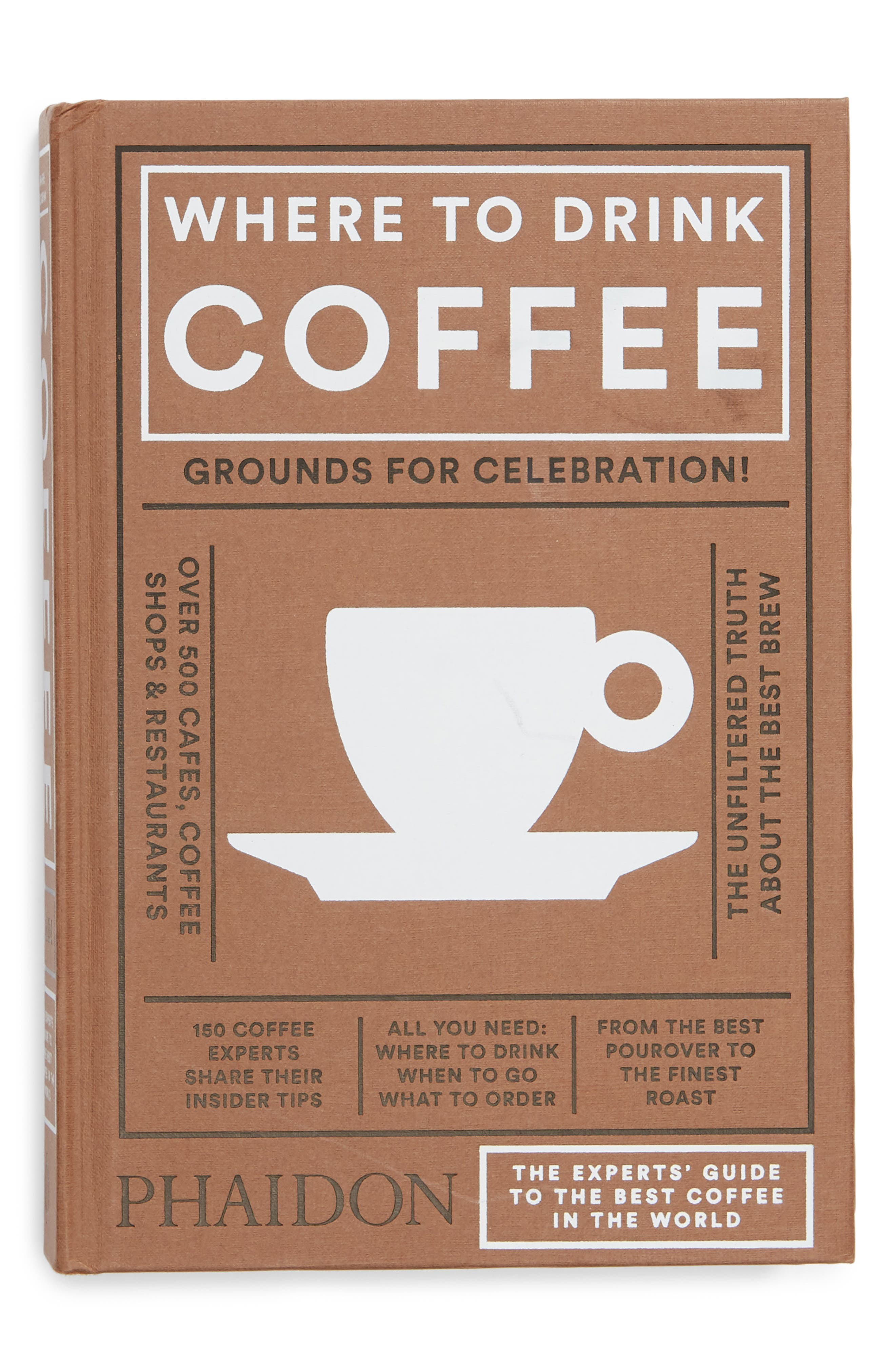 'Where to Drink Coffee' Book,                             Main thumbnail 1, color,                             Brown