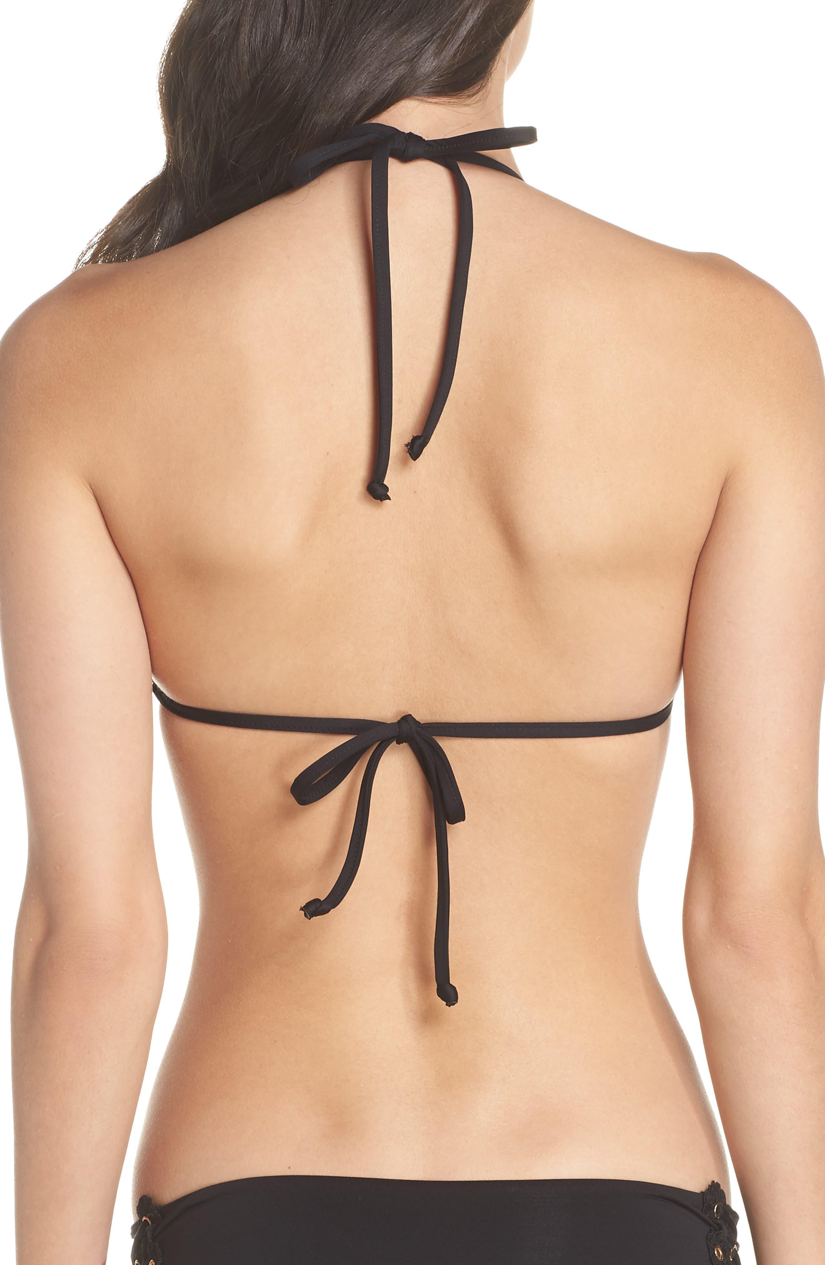 Set Sail Triangle Bikini Top,                             Alternate thumbnail 2, color,                             Black