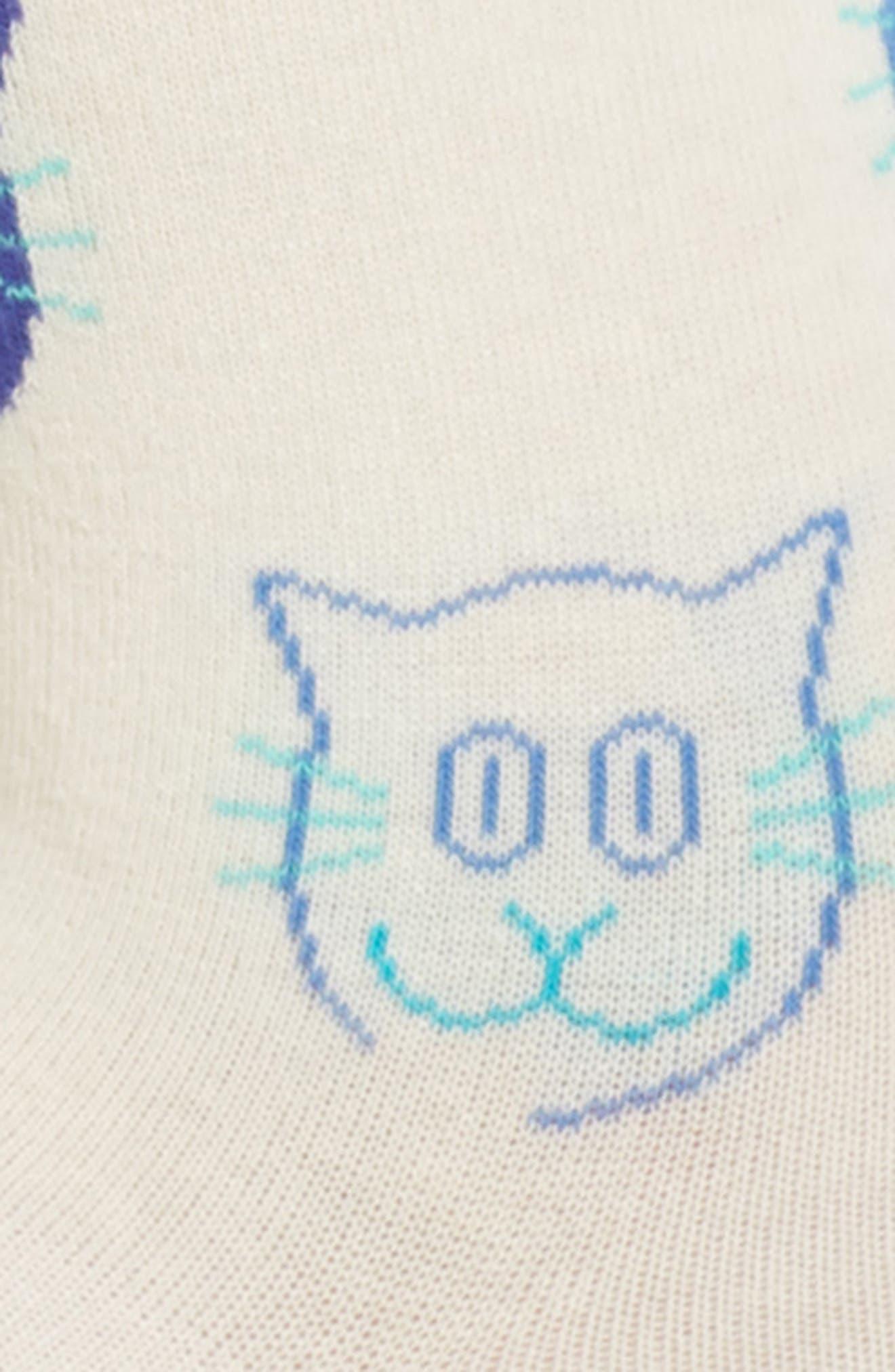 Alternate Image 2  - Happy Socks Cat Crew Socks (3 for $30)
