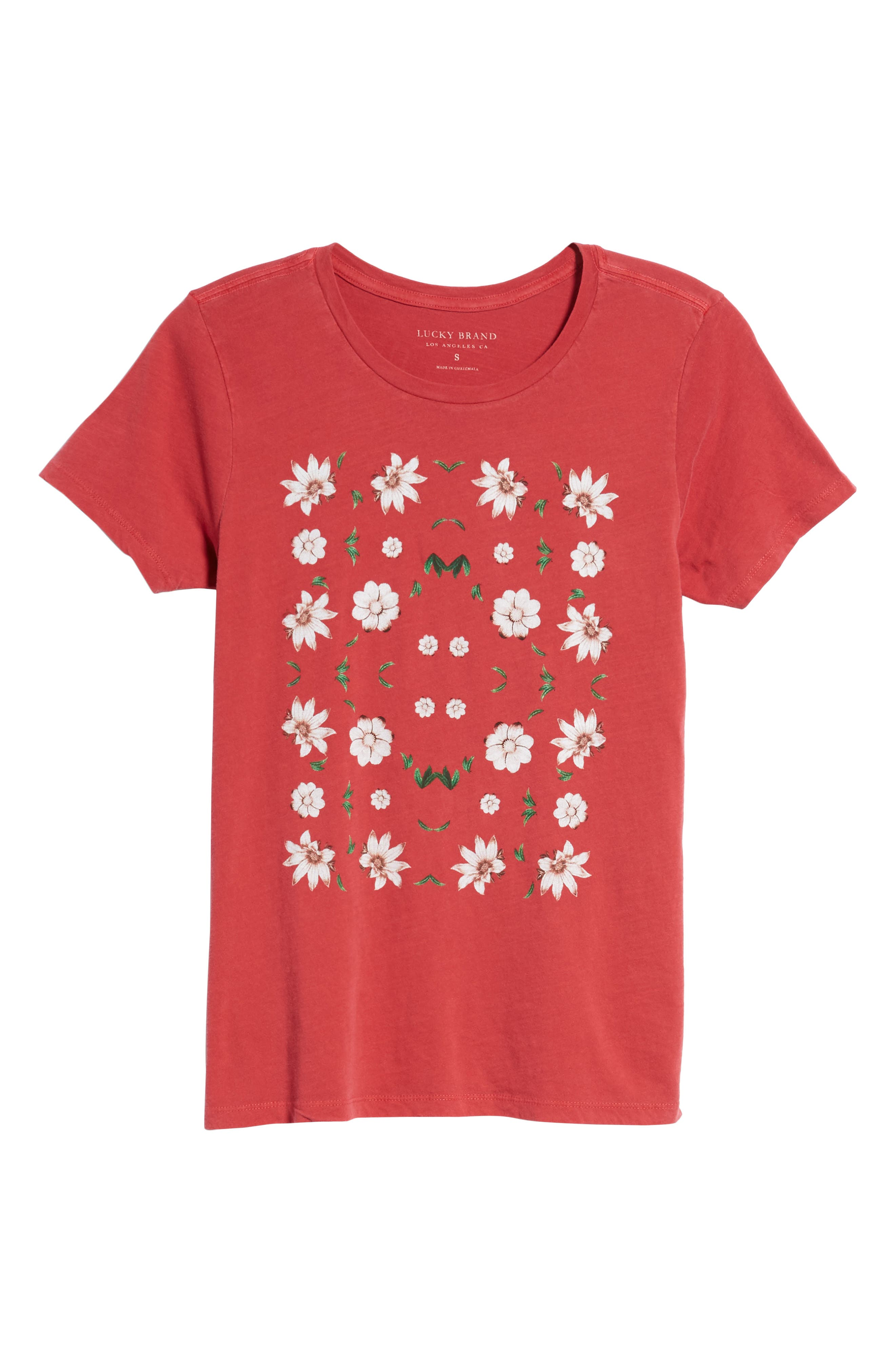 Alternate Image 6  - Lucky Brand Flowers Distressed Tee