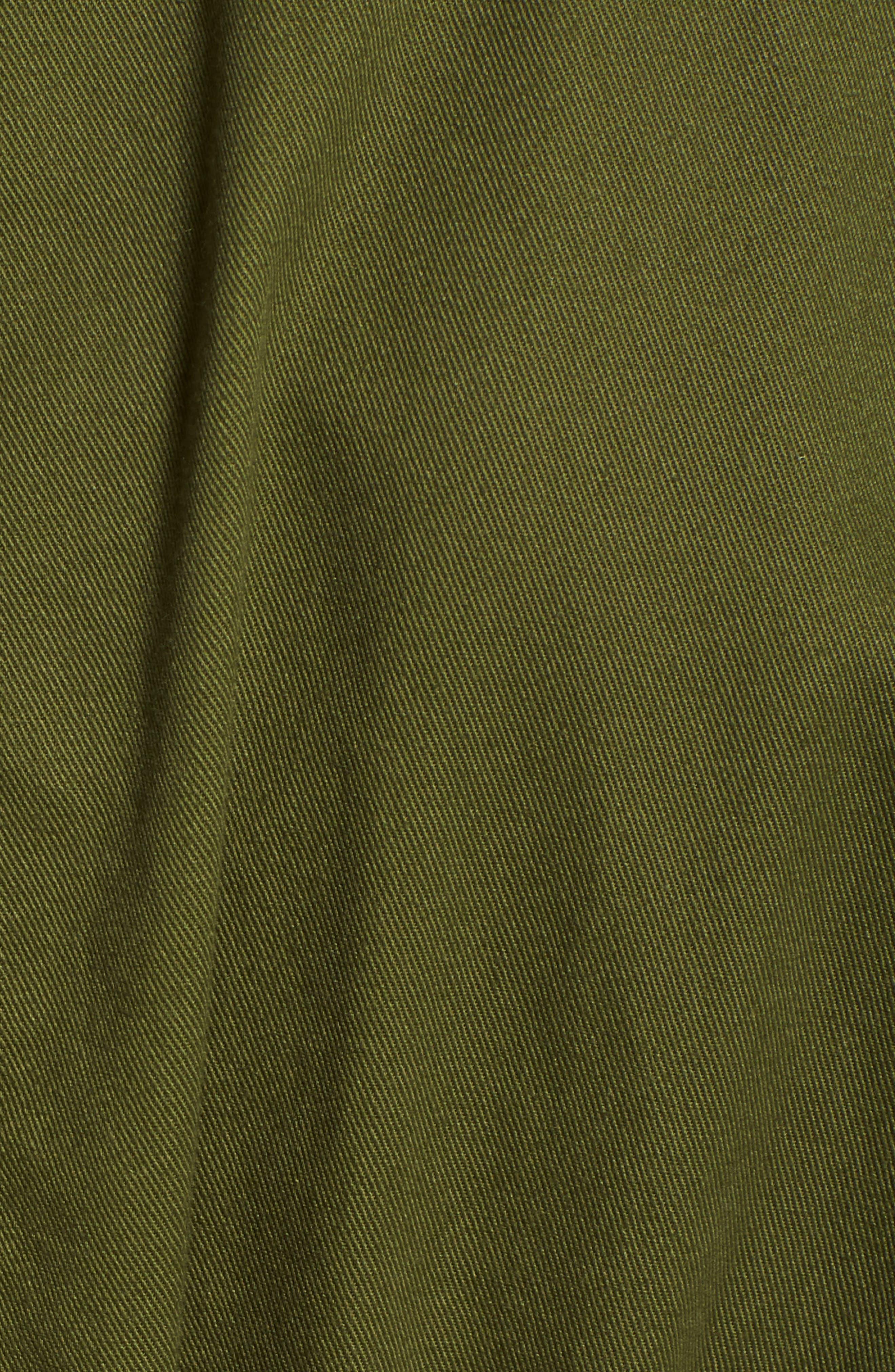 Wide Leg Utility Jumpsuit,                             Alternate thumbnail 5, color,                             Desert Olive