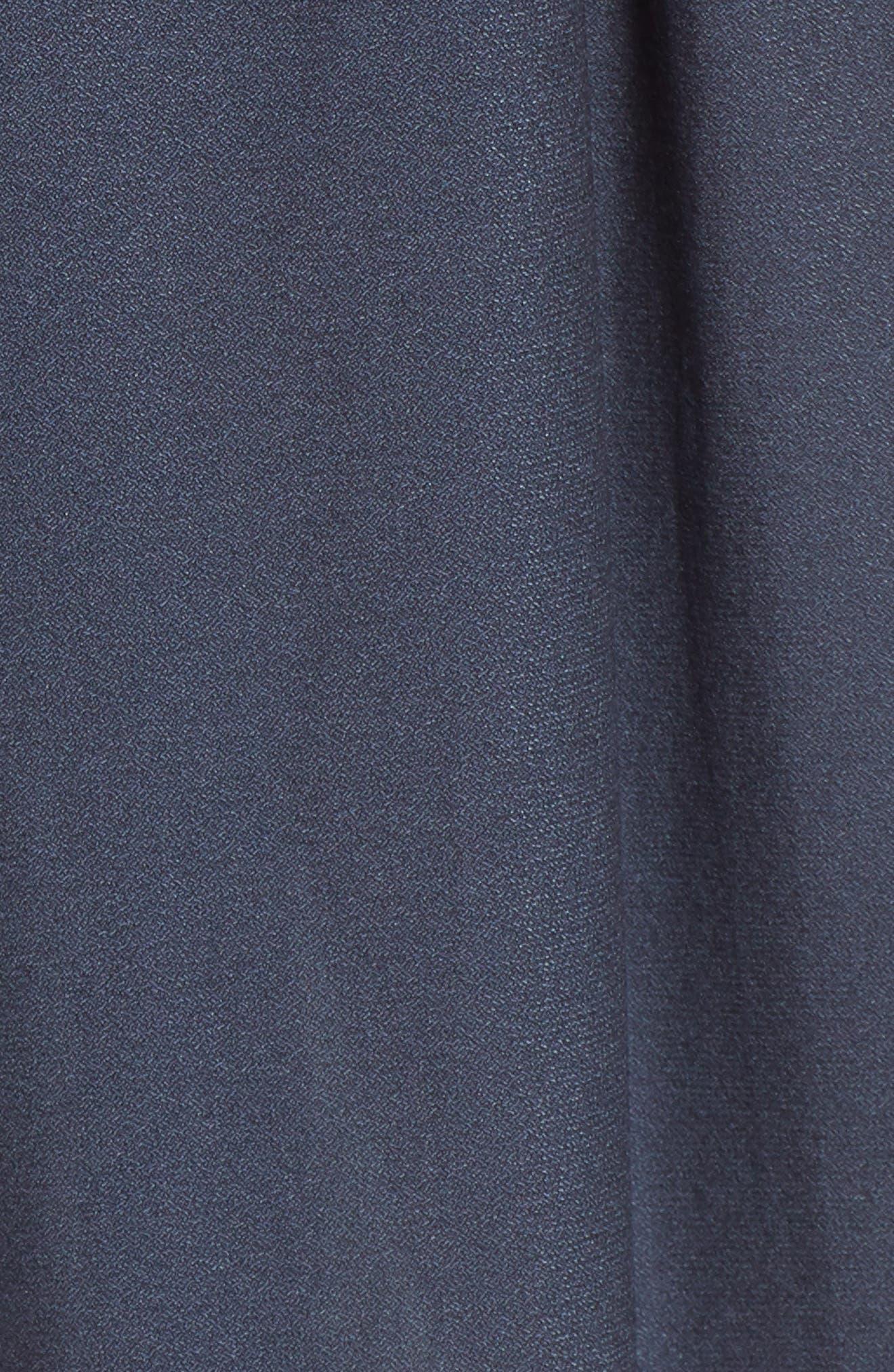 Strappy Cutout Midi Dress,                             Alternate thumbnail 6, color,                             Night