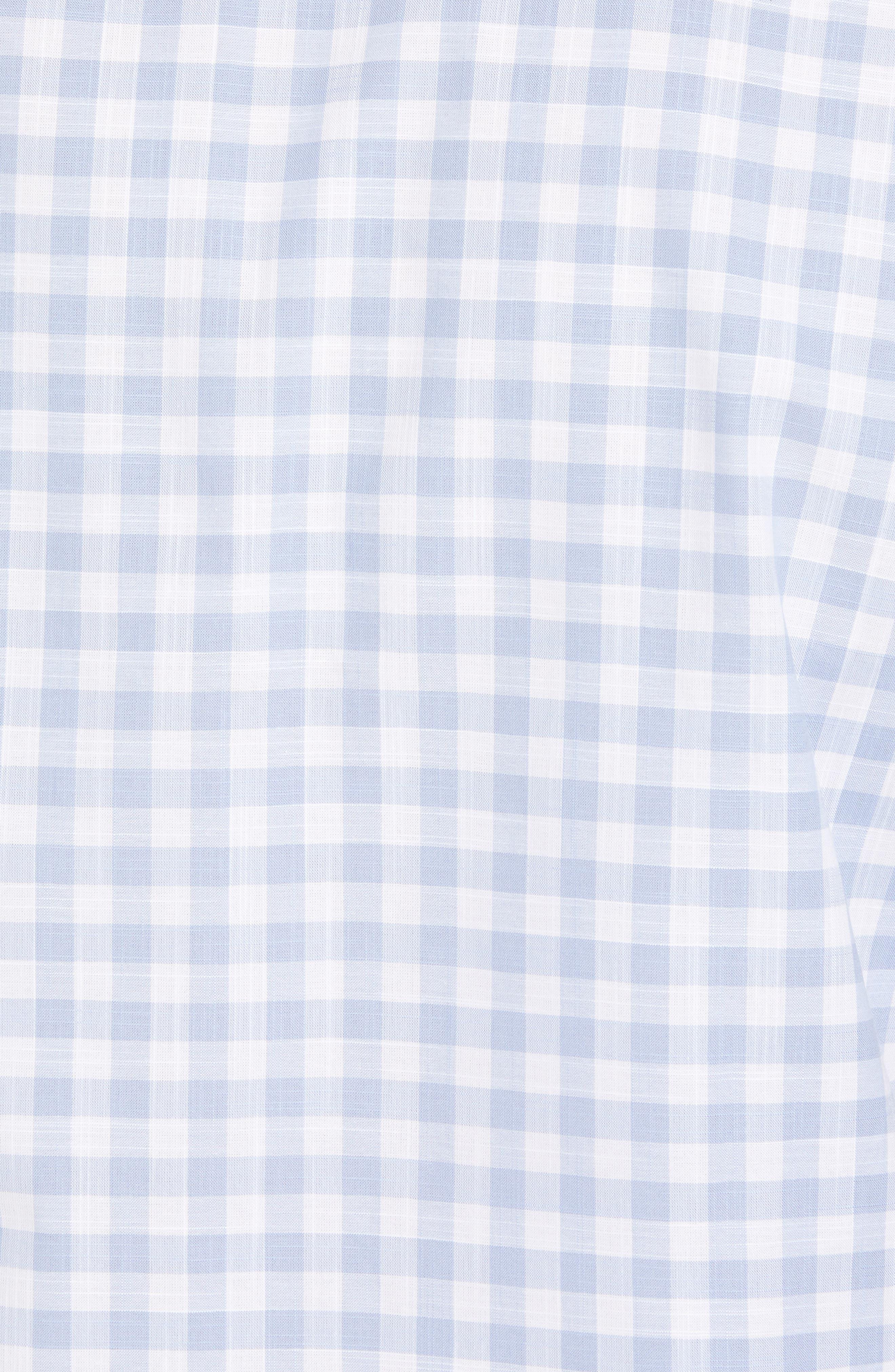 Hawes Regular Fit Check Sport Shirt,                             Alternate thumbnail 5, color,                             Light Blue