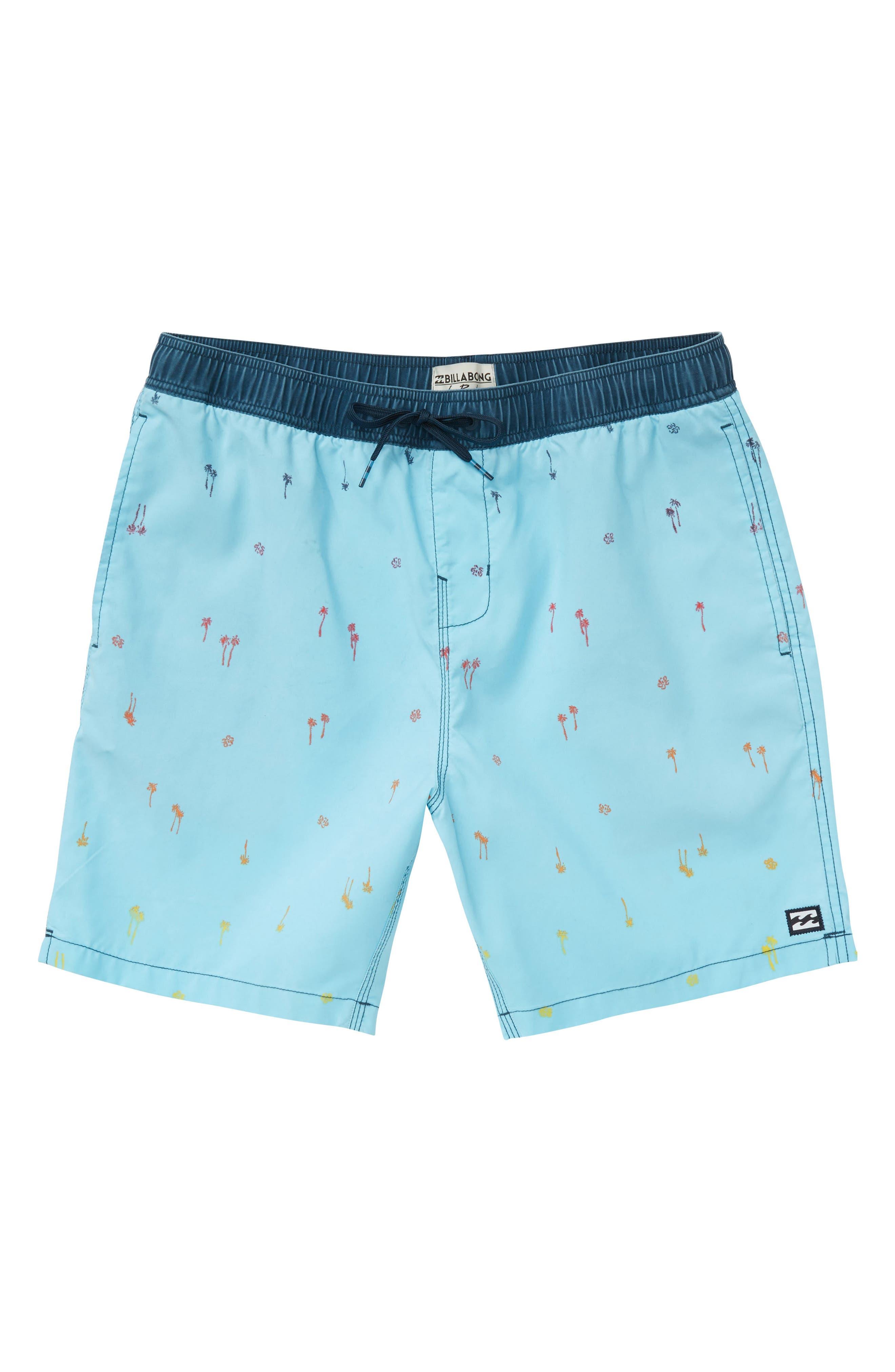 Sundays Layback Swim Trunks,                         Main,                         color, Light Blue