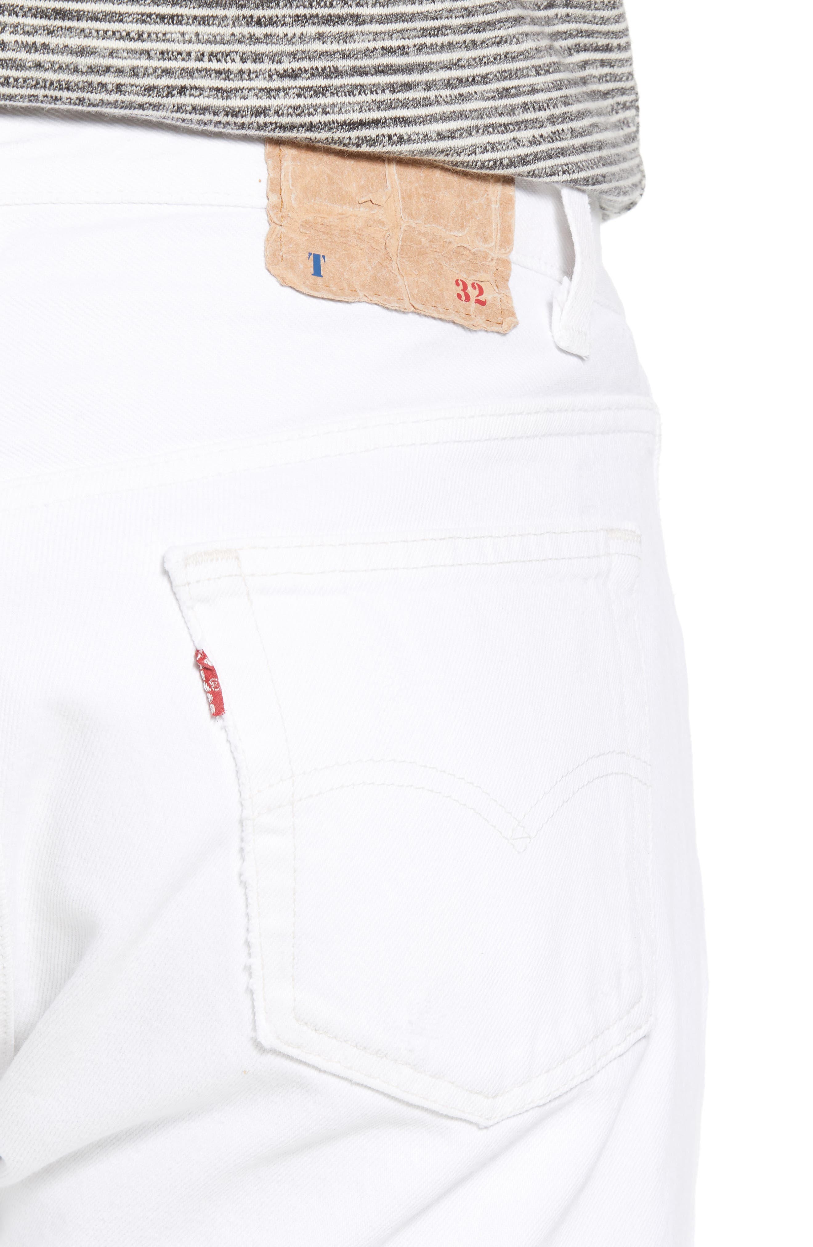 Authorized Vintage 501<sup>®</sup> Tapered Slim Fit Jeans,                             Alternate thumbnail 4, color,                             Av White