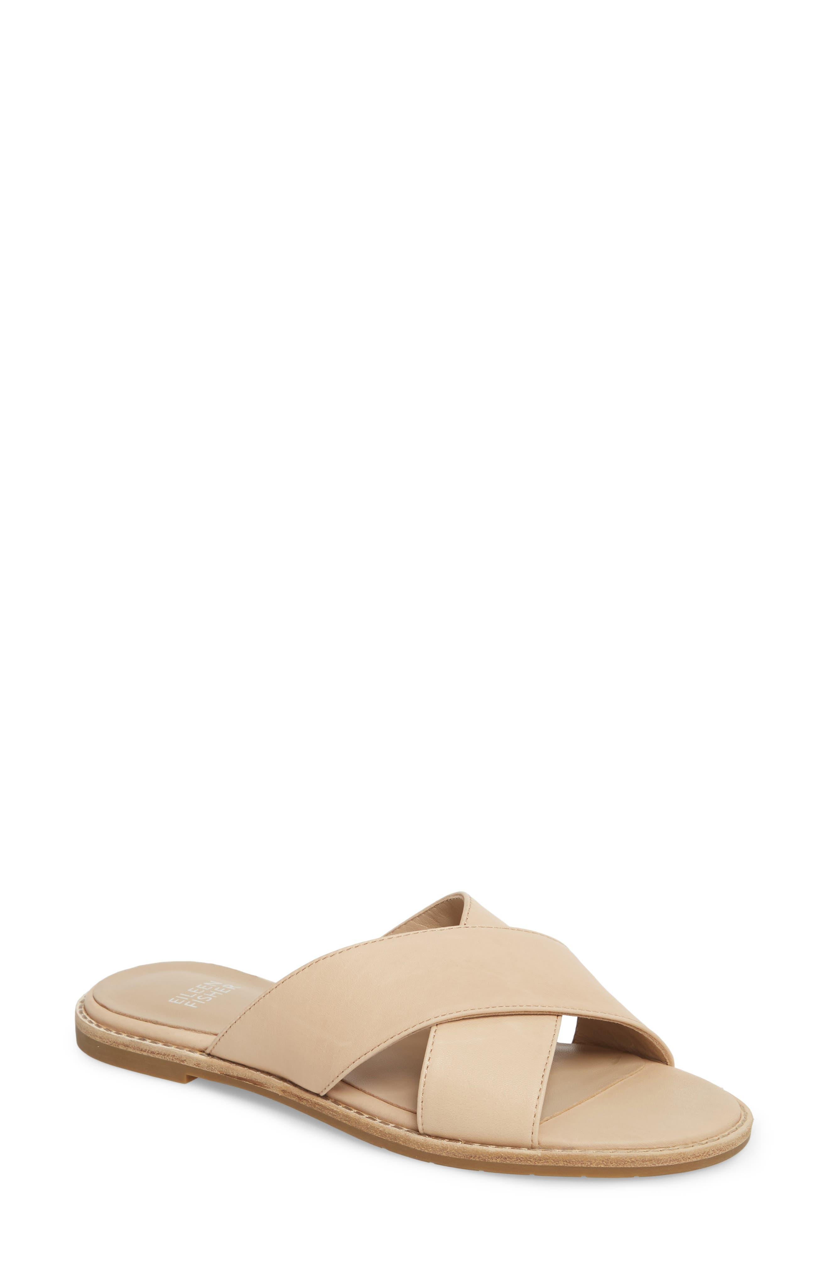 Cape Slide Sandal,                             Main thumbnail 1, color,                             Desert Leather