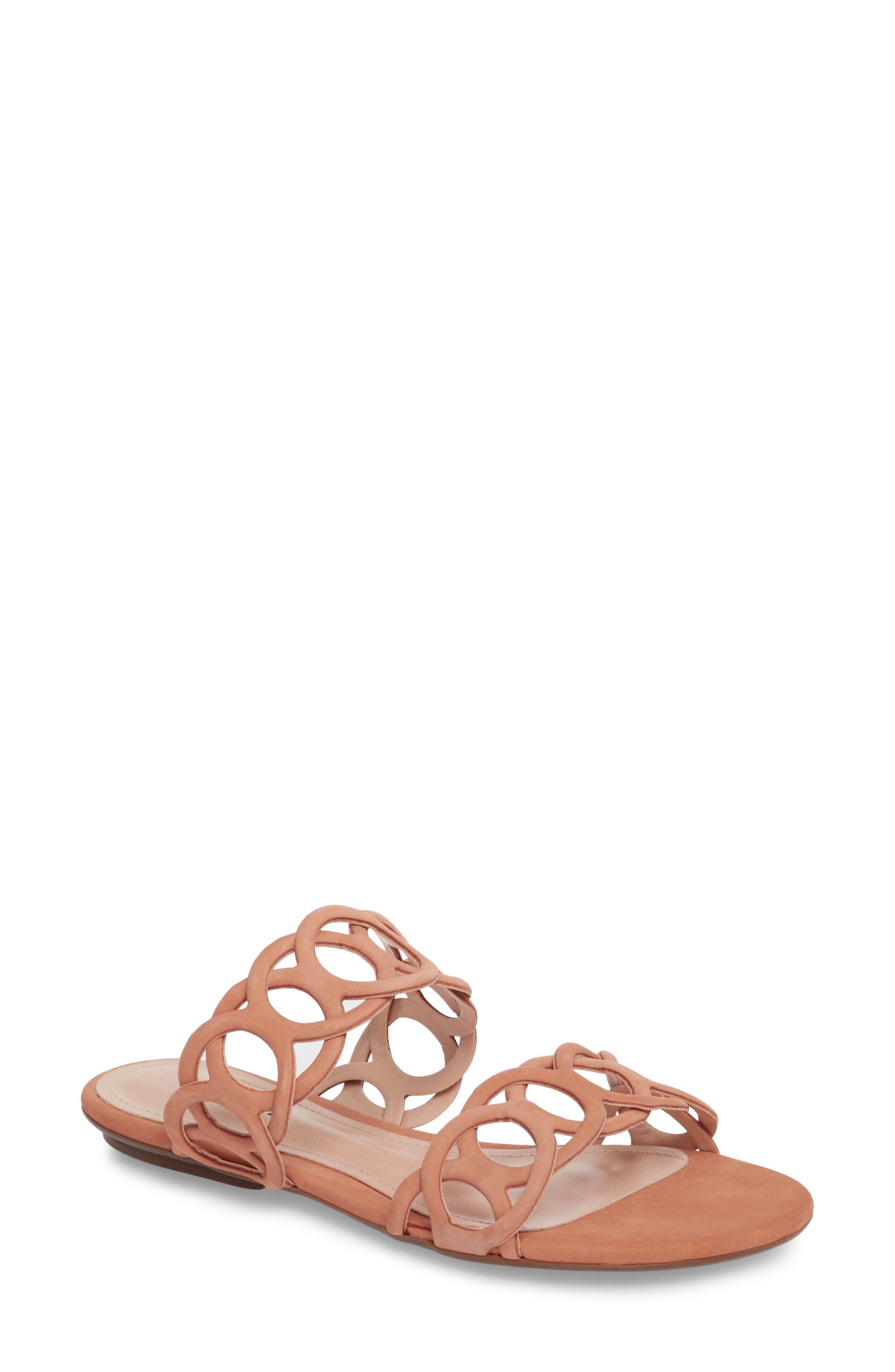 Yaslin Slide Sandal,                             Main thumbnail 1, color,                             Toasted Nut Leather