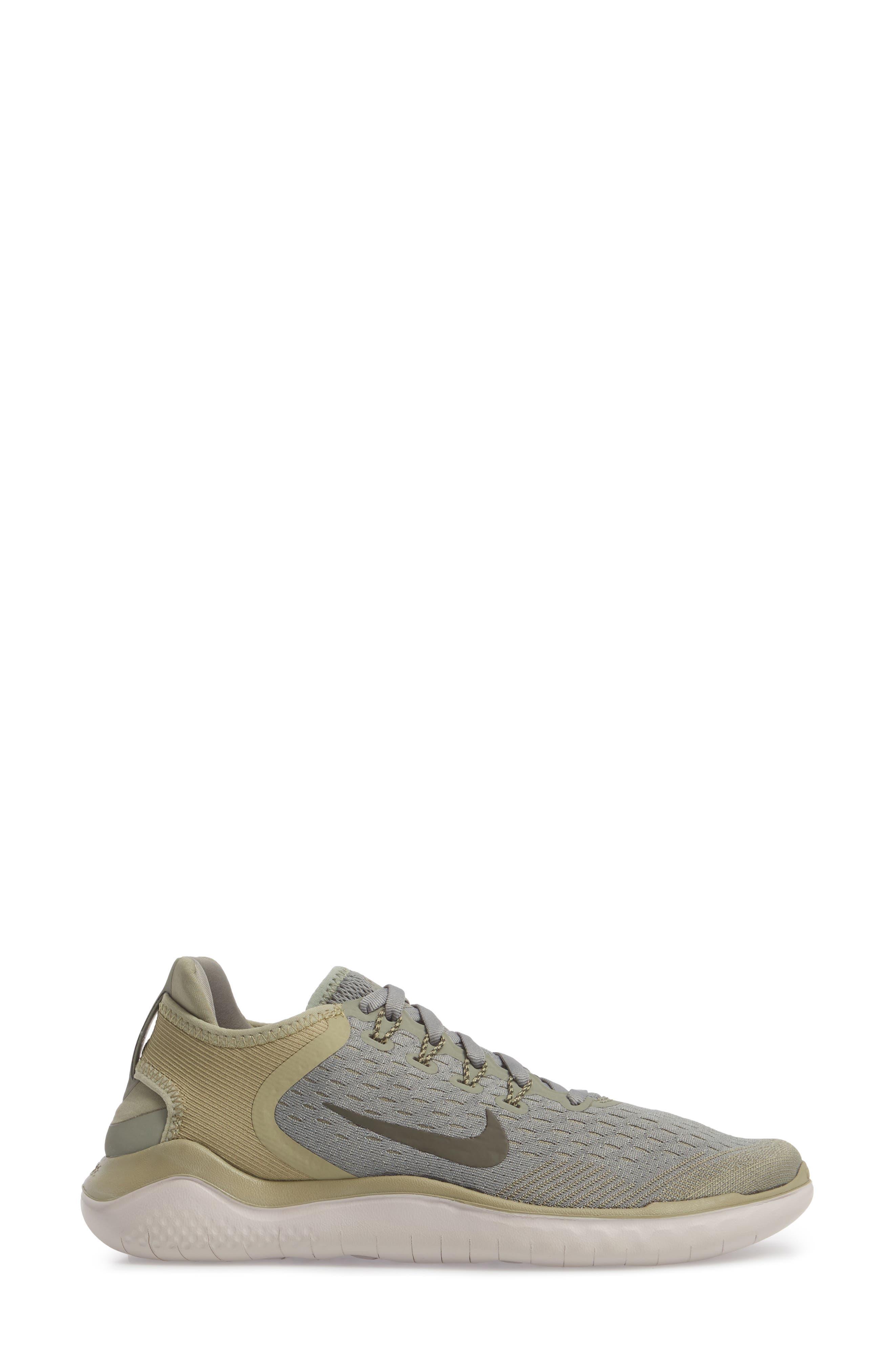 Free RN 2018 Running Shoe,                             Alternate thumbnail 3, color,                             Dark Stucco/ Cargo Khaki