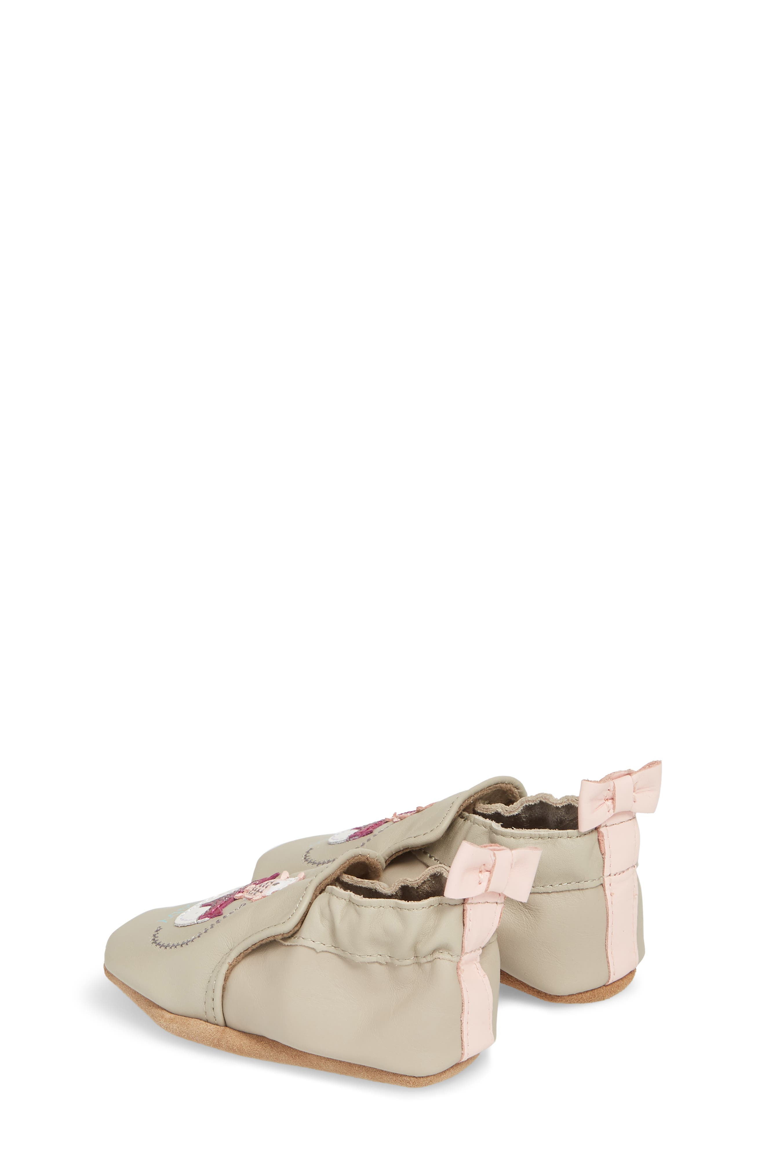 Hello Baby Friends Moccasin Crib Shoe,                             Alternate thumbnail 2, color,                             Light Grey