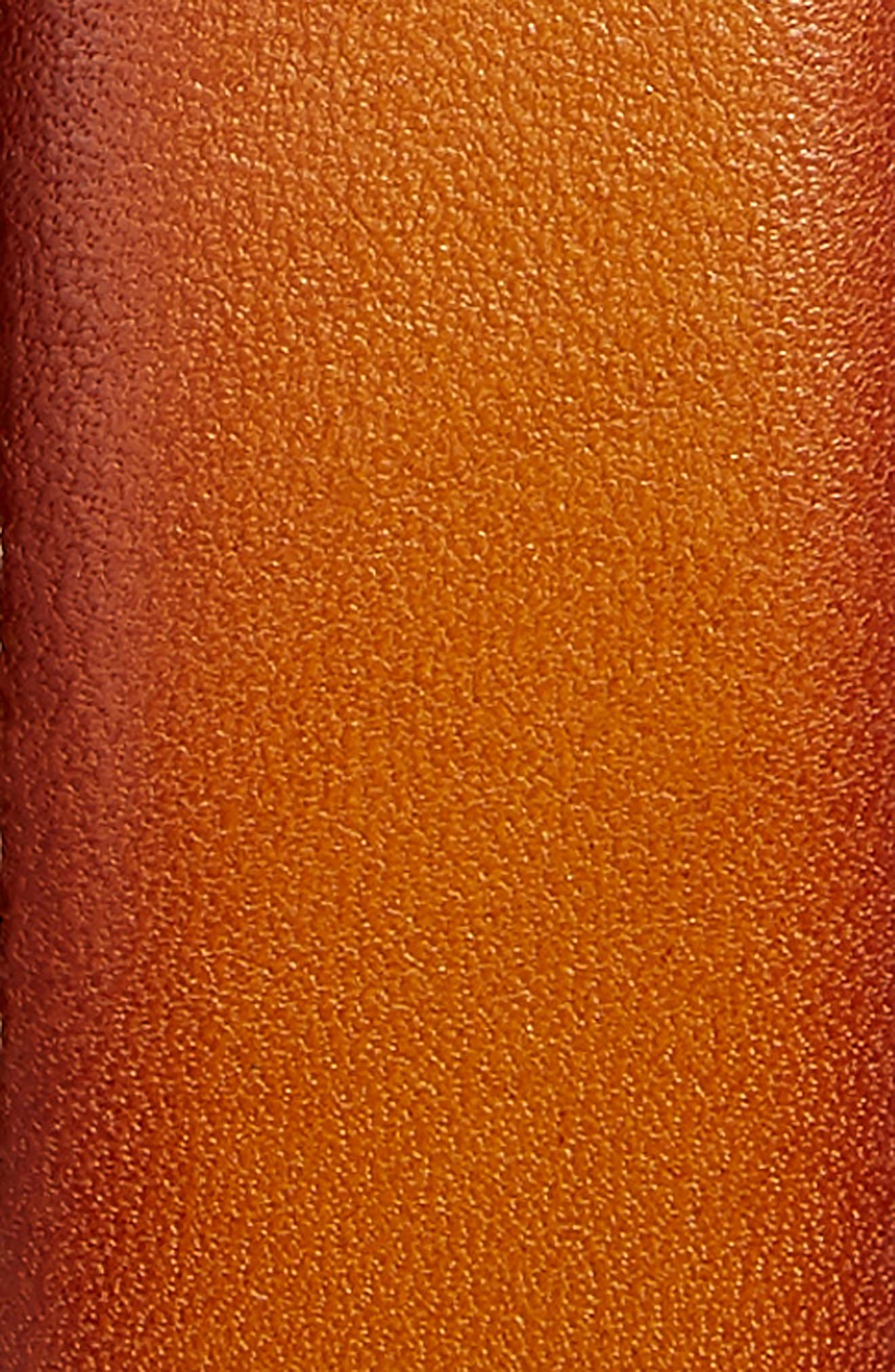 Marco Burnished Leather Belt,                             Alternate thumbnail 2, color,                             Cognac