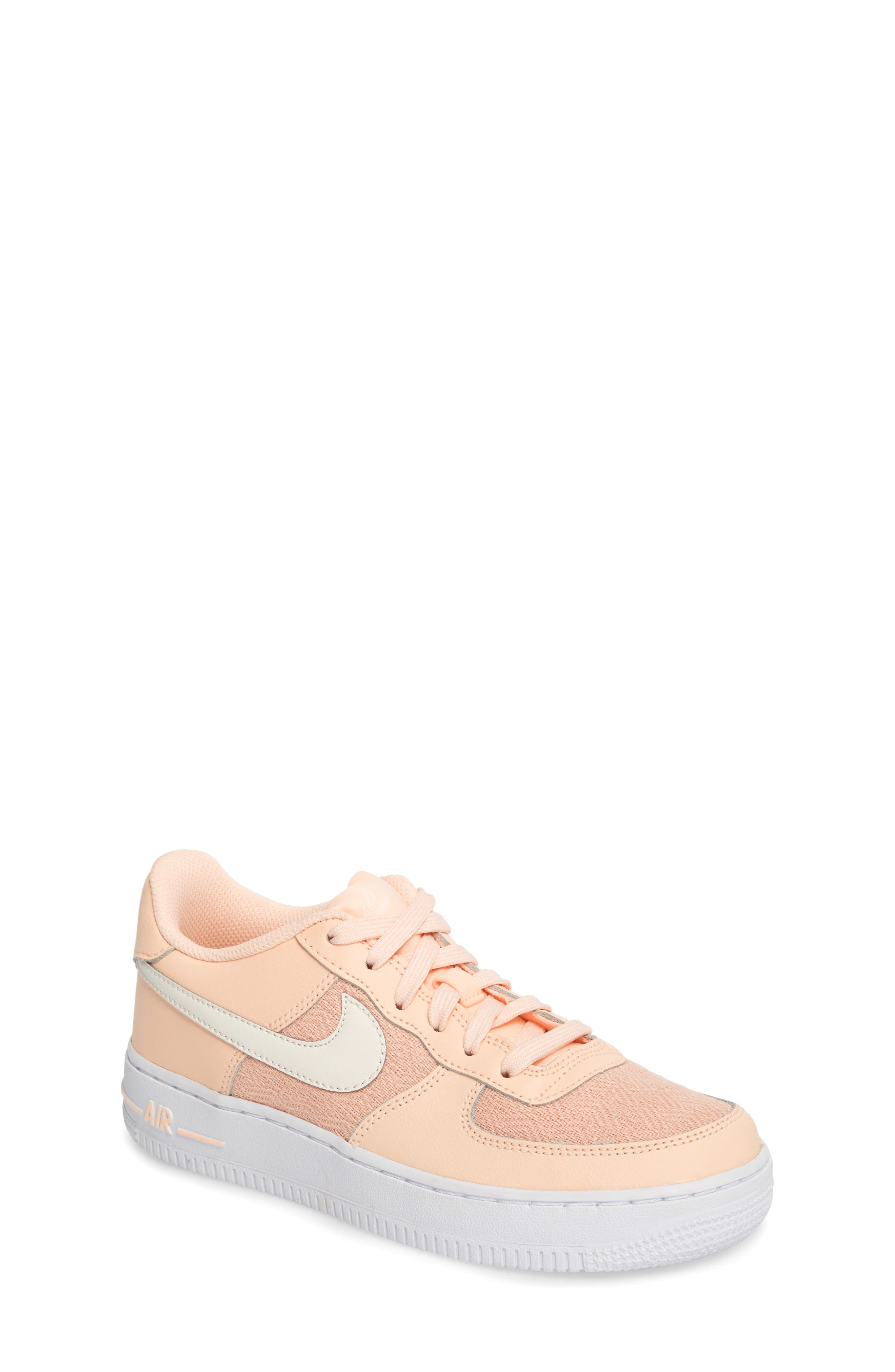 Air Force 1 LV8 Sneaker,                         Main,                         color, Crimson Tint/ Sail/ White