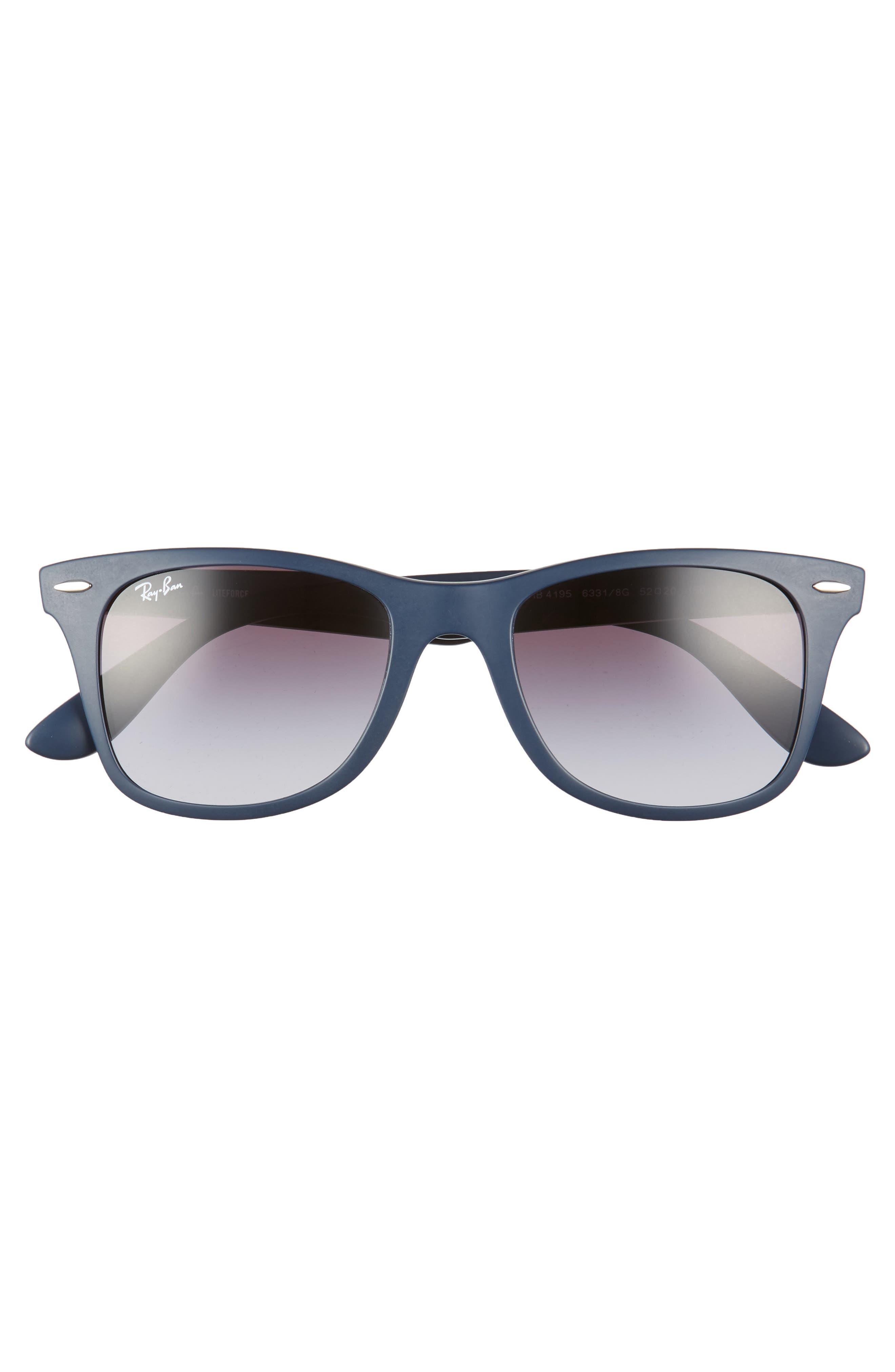 52mm Sunglasses,                             Alternate thumbnail 3, color,                             Blue/ Grey