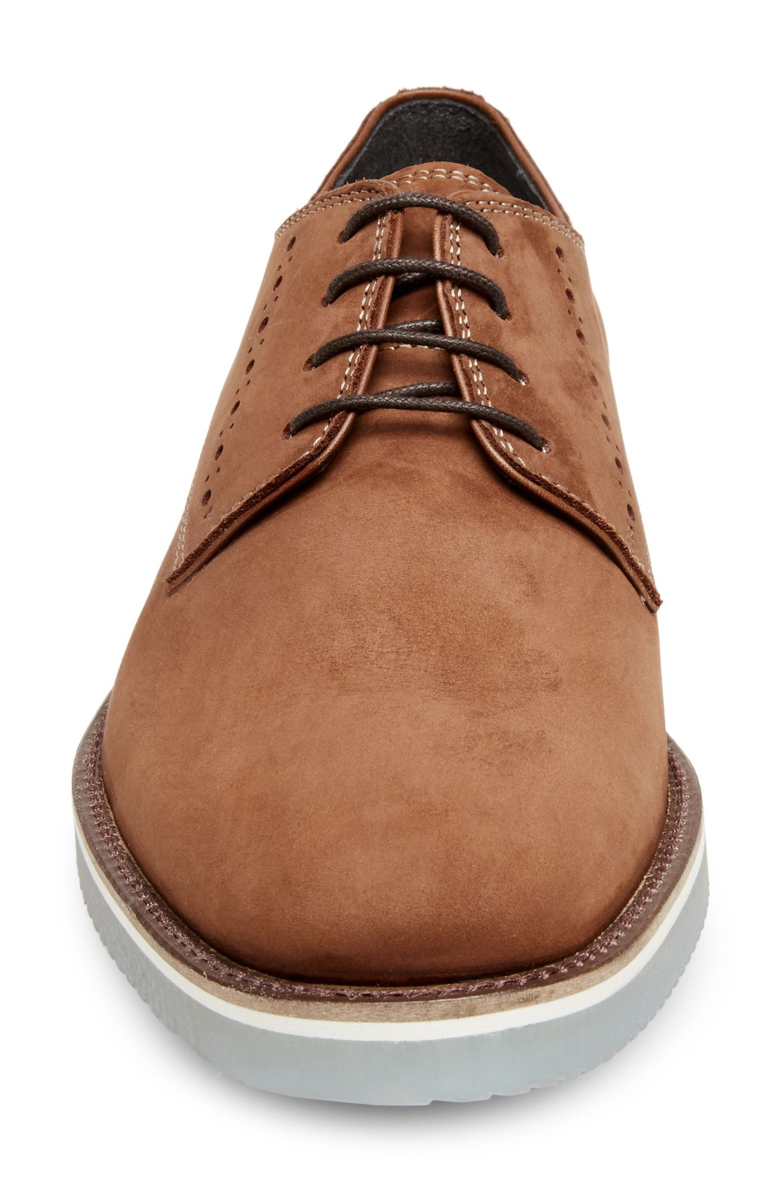 Inquest Plain Toe Derby,                             Alternate thumbnail 4, color,                             Cognac Nubuck