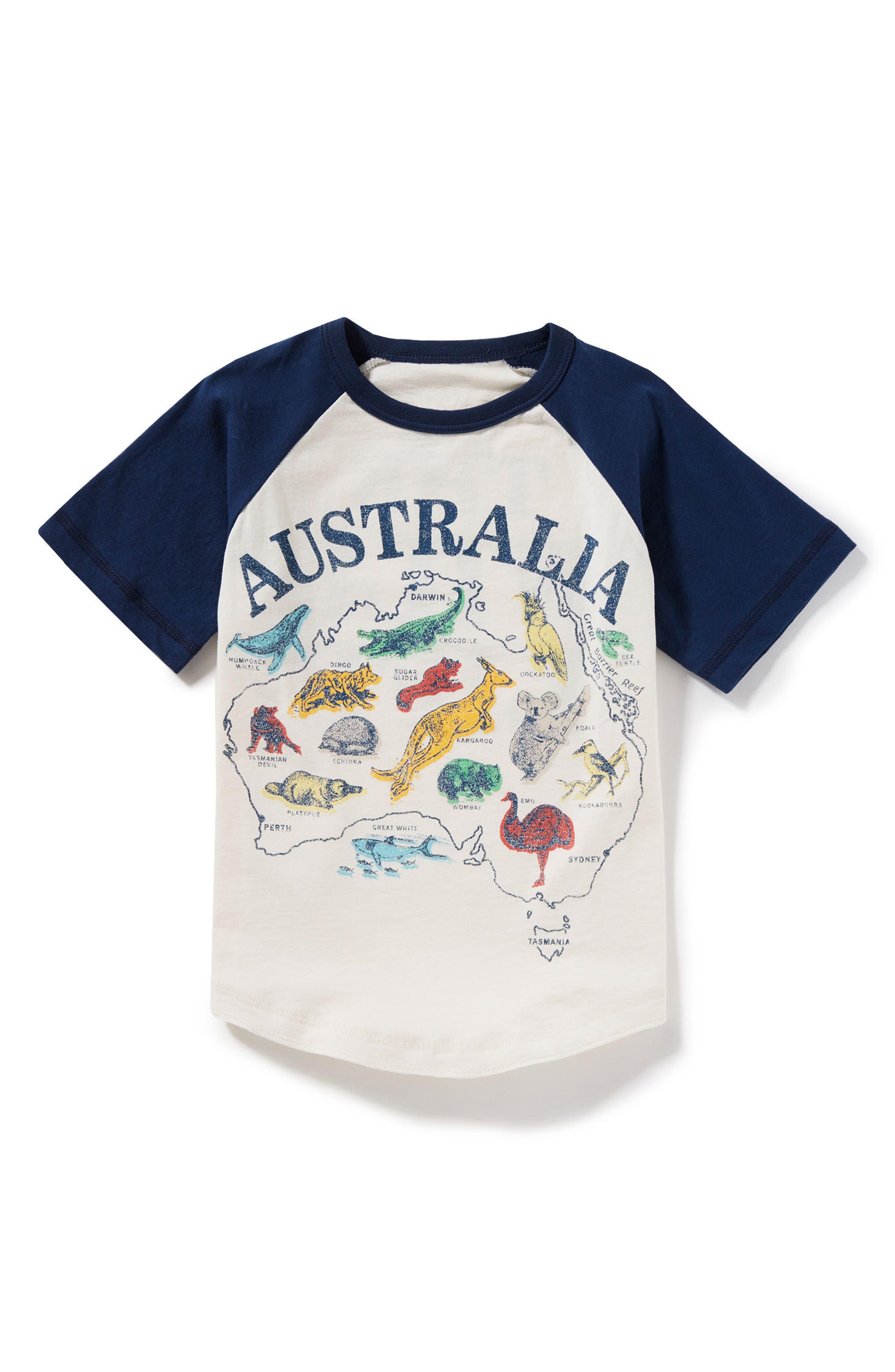 Peek Australia Raglan T-Shirt (Little Boys & Big Boys)