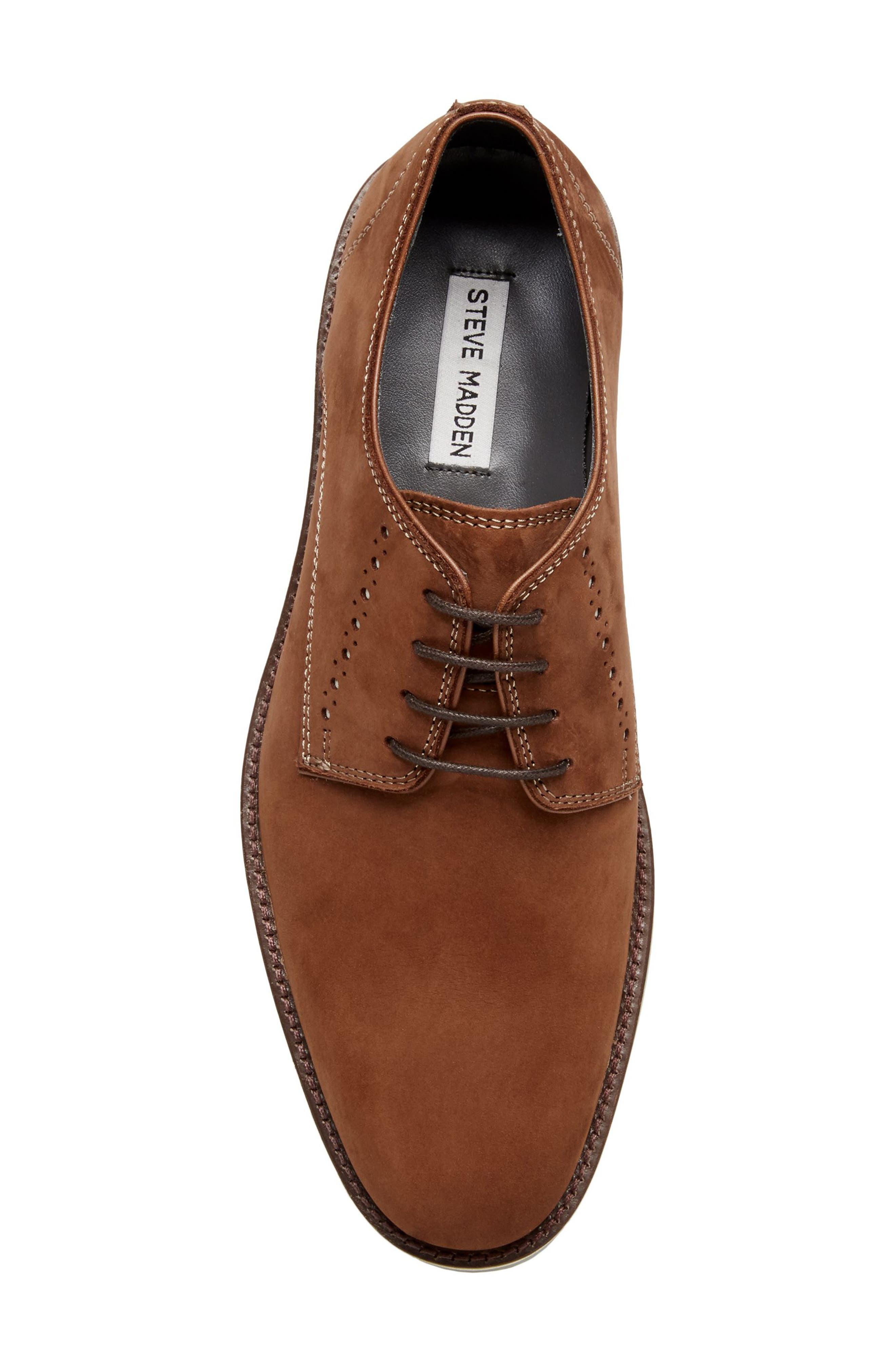 Inquest Plain Toe Derby,                             Alternate thumbnail 5, color,                             Cognac Nubuck