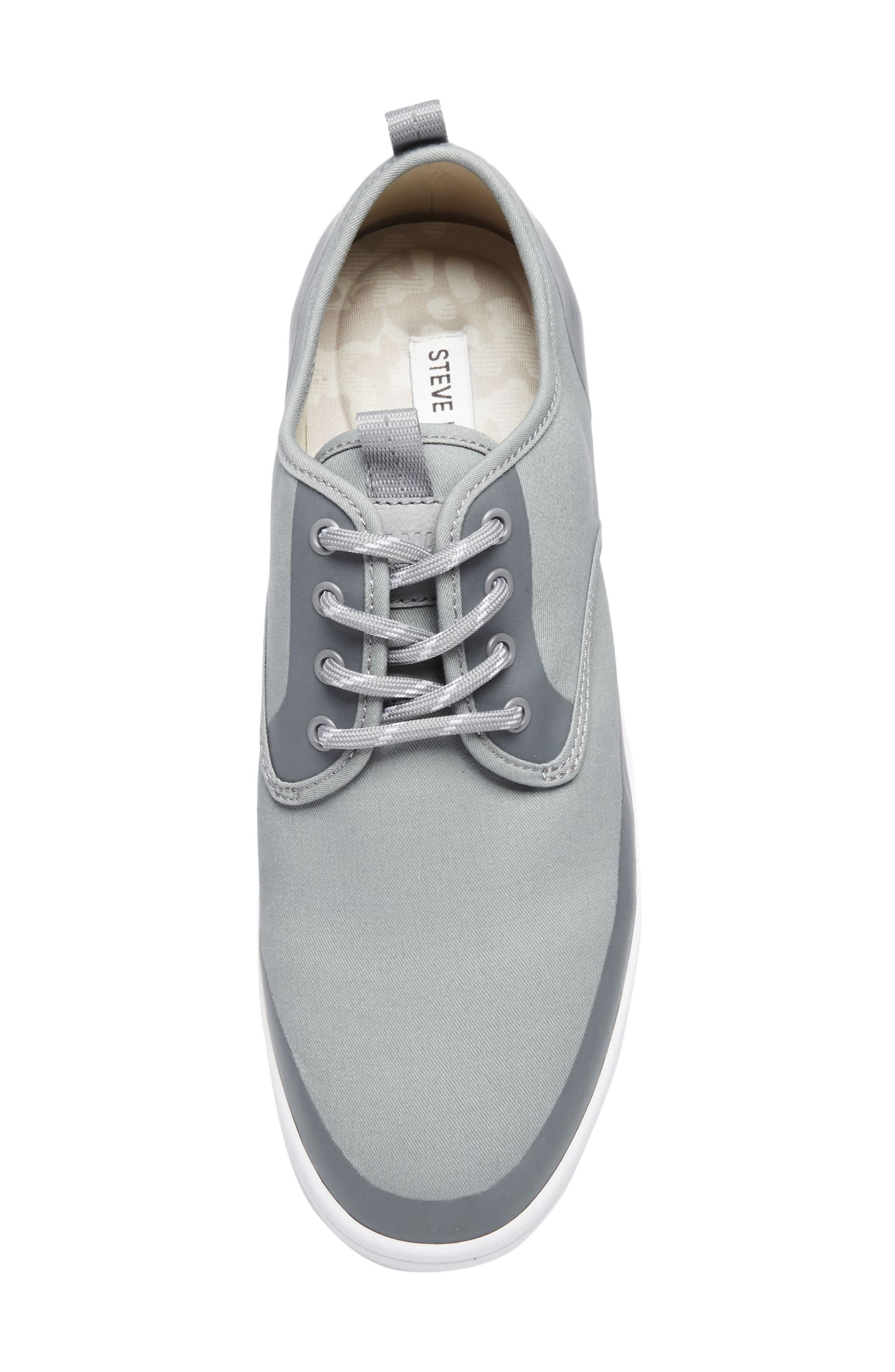 Fayette Low Top Sneaker,                             Alternate thumbnail 5, color,                             Grey Fabric