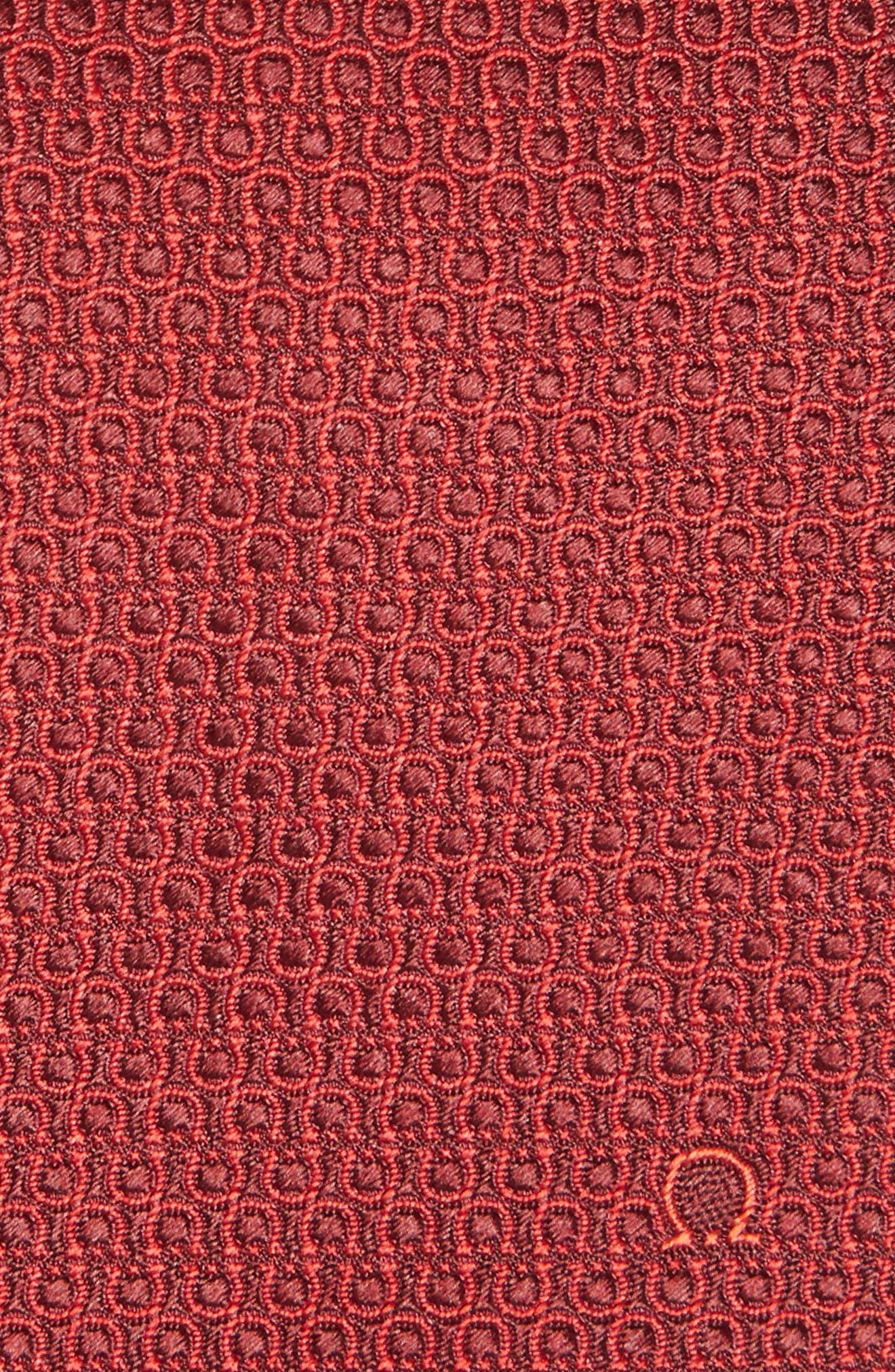 Esper Gancini Print Silk Tie,                             Alternate thumbnail 2, color,                             Bordeaux