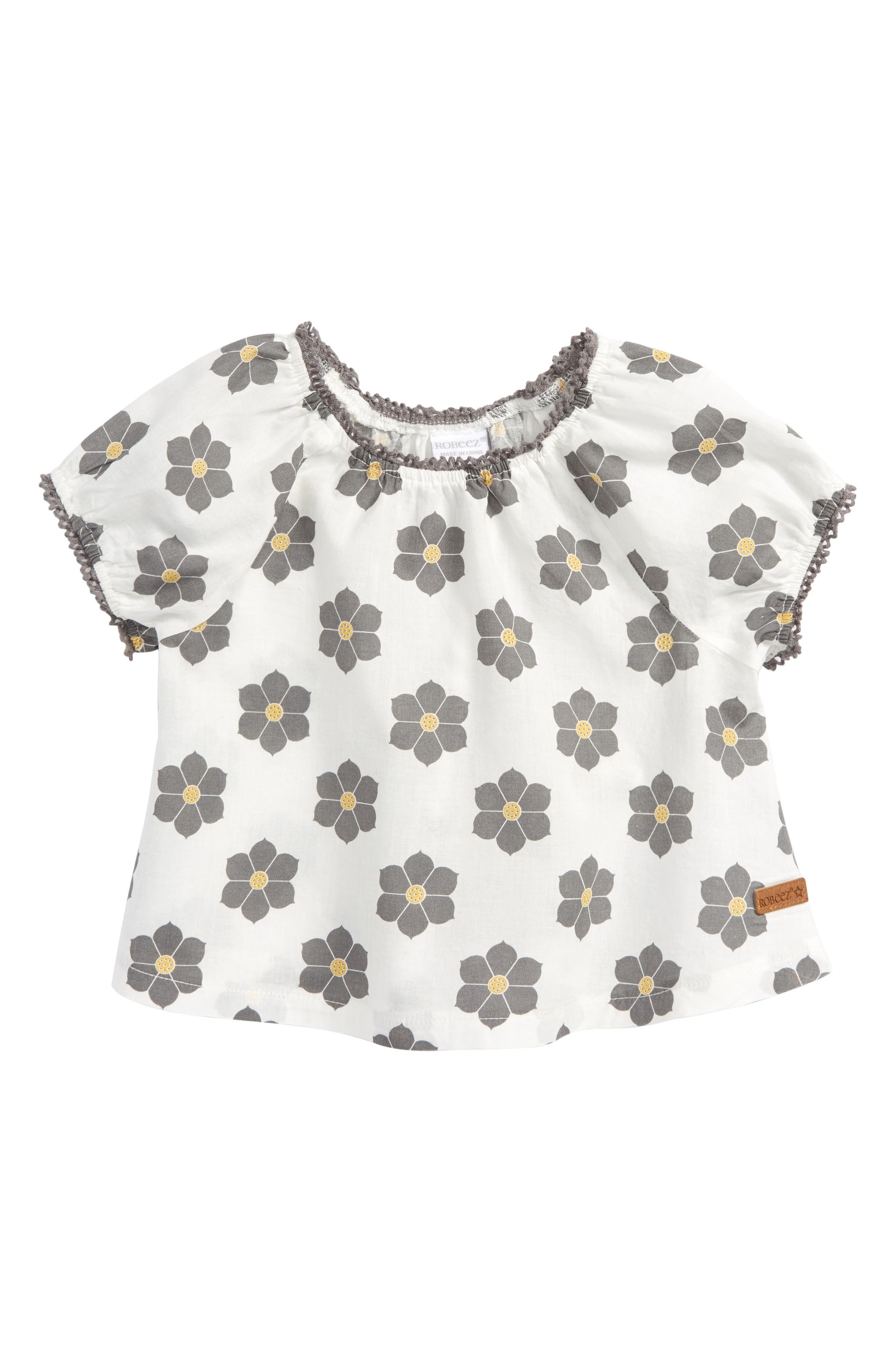 Floral Top,                         Main,                         color, White