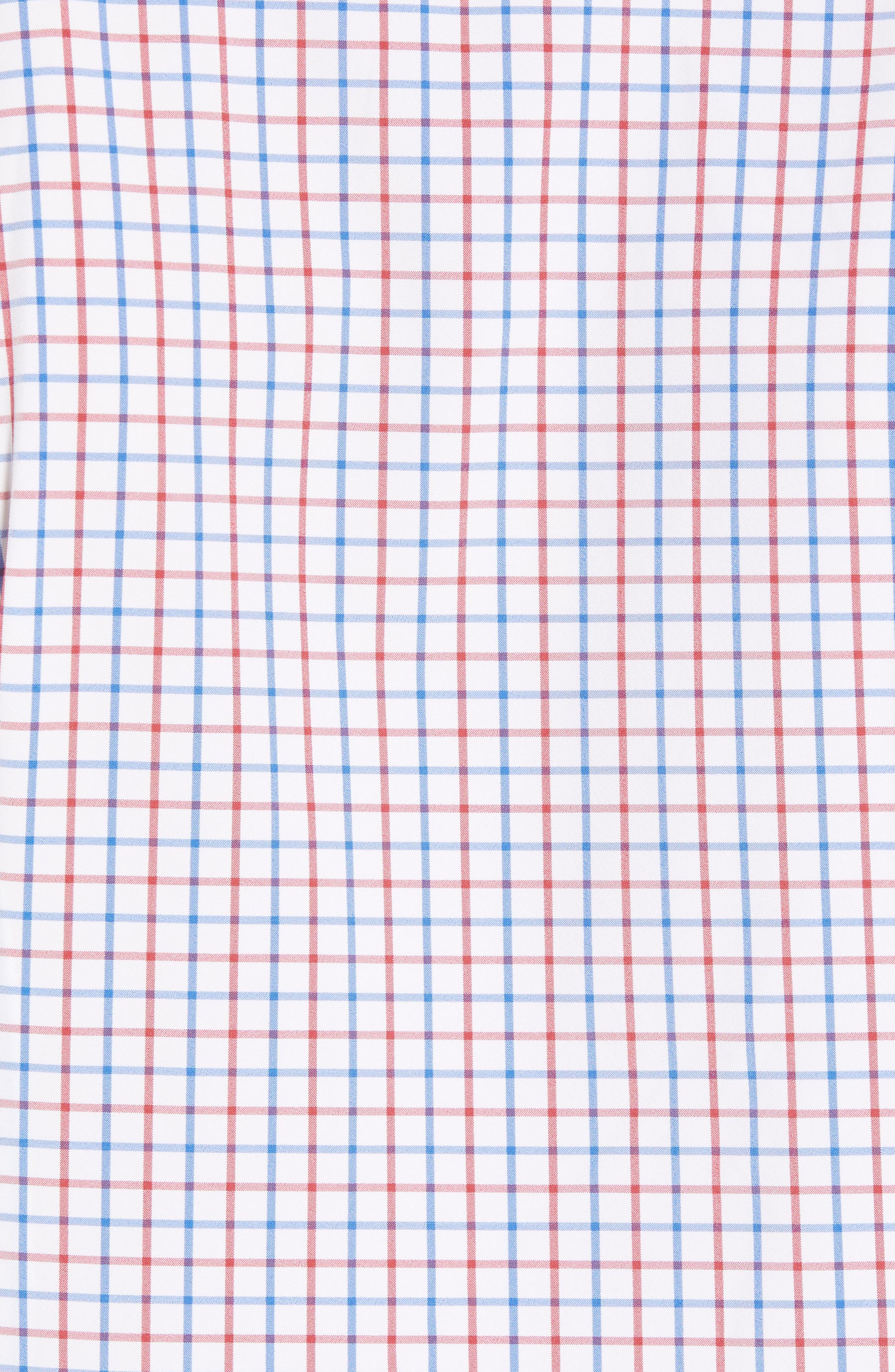 Henry Slim Fit Check Performance Sport Shirt,                             Alternate thumbnail 5, color,                             Multi