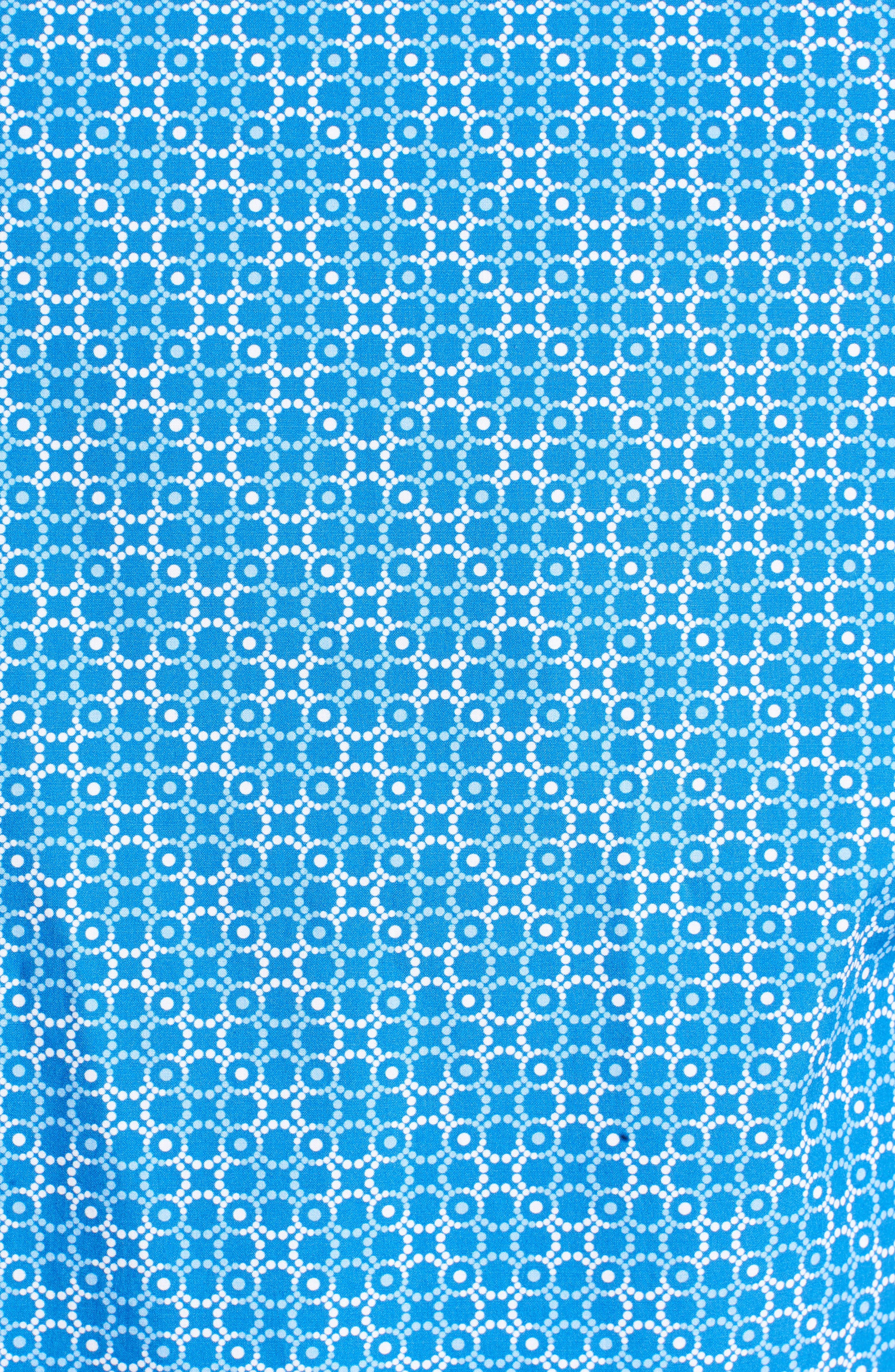 Classic Fit Circle Grid Sport Shirt,                             Alternate thumbnail 5, color,                             Classic Blue
