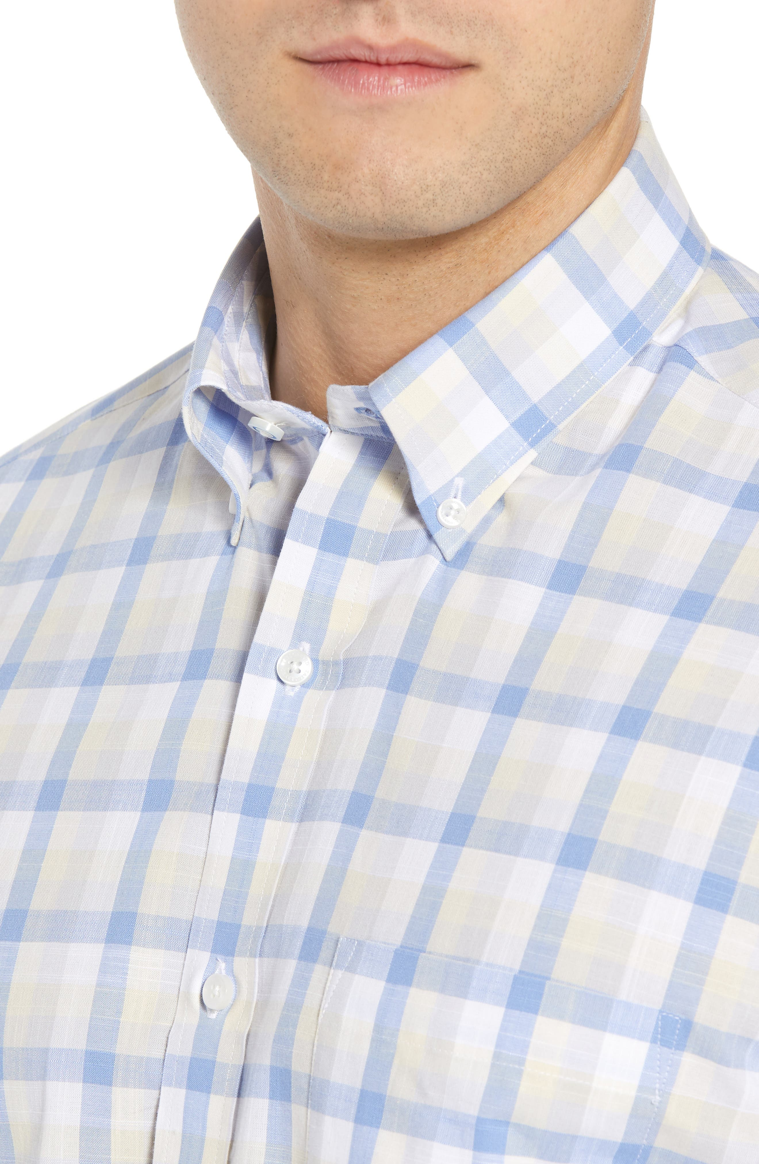 Jaziel Regular Fit Check Sport Shirt,                             Alternate thumbnail 2, color,                             Light Blue