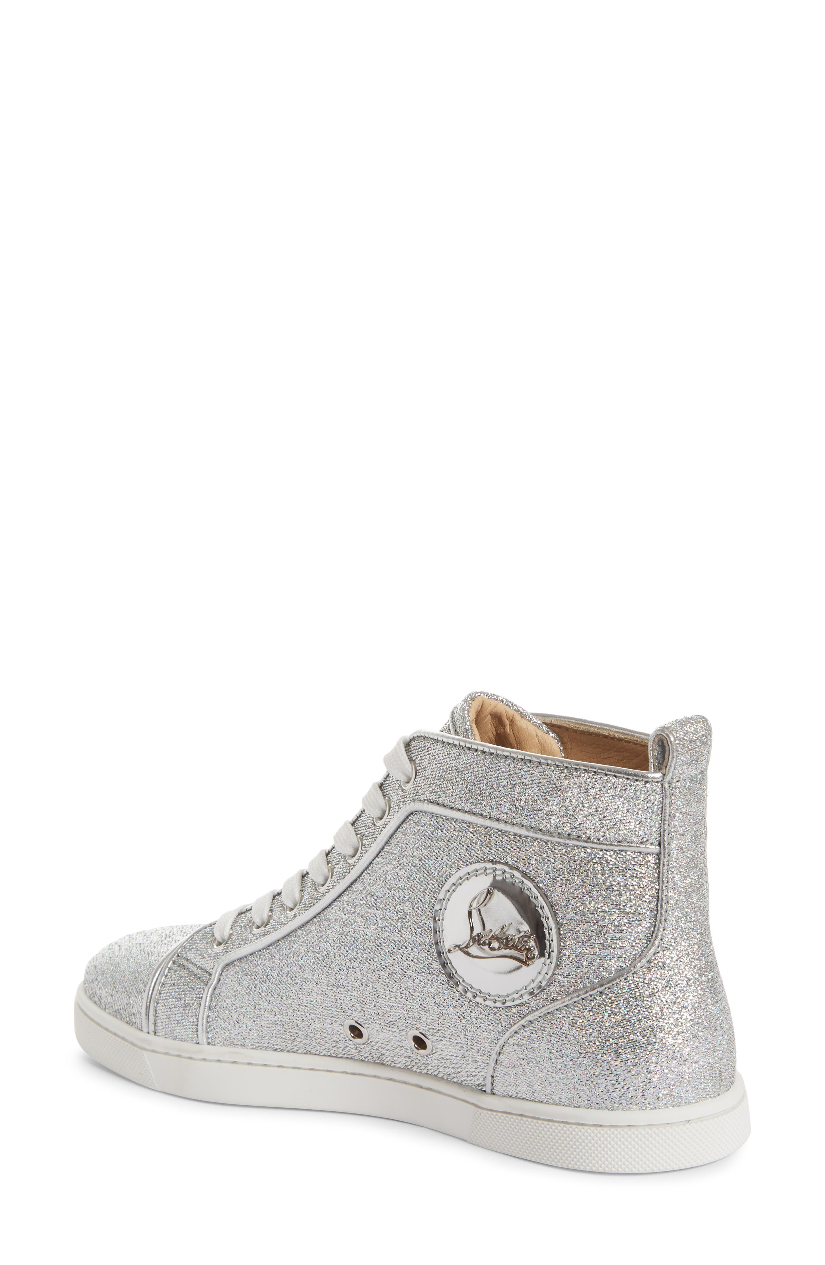 Orlato Metallic High Top Sneaker,                             Alternate thumbnail 2, color,                             Silver