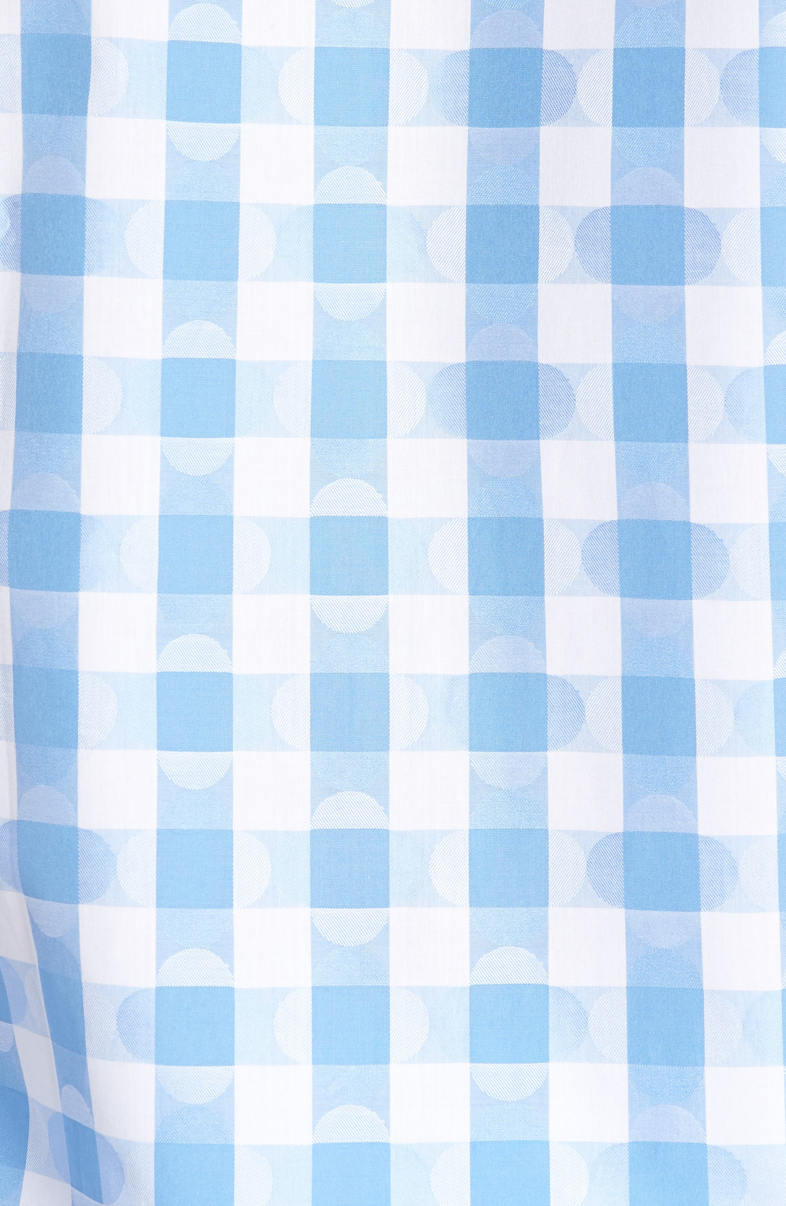 Shaped Fit Jacquard Gingham Sport Shirt,                             Alternate thumbnail 5, color,                             Classic Blue
