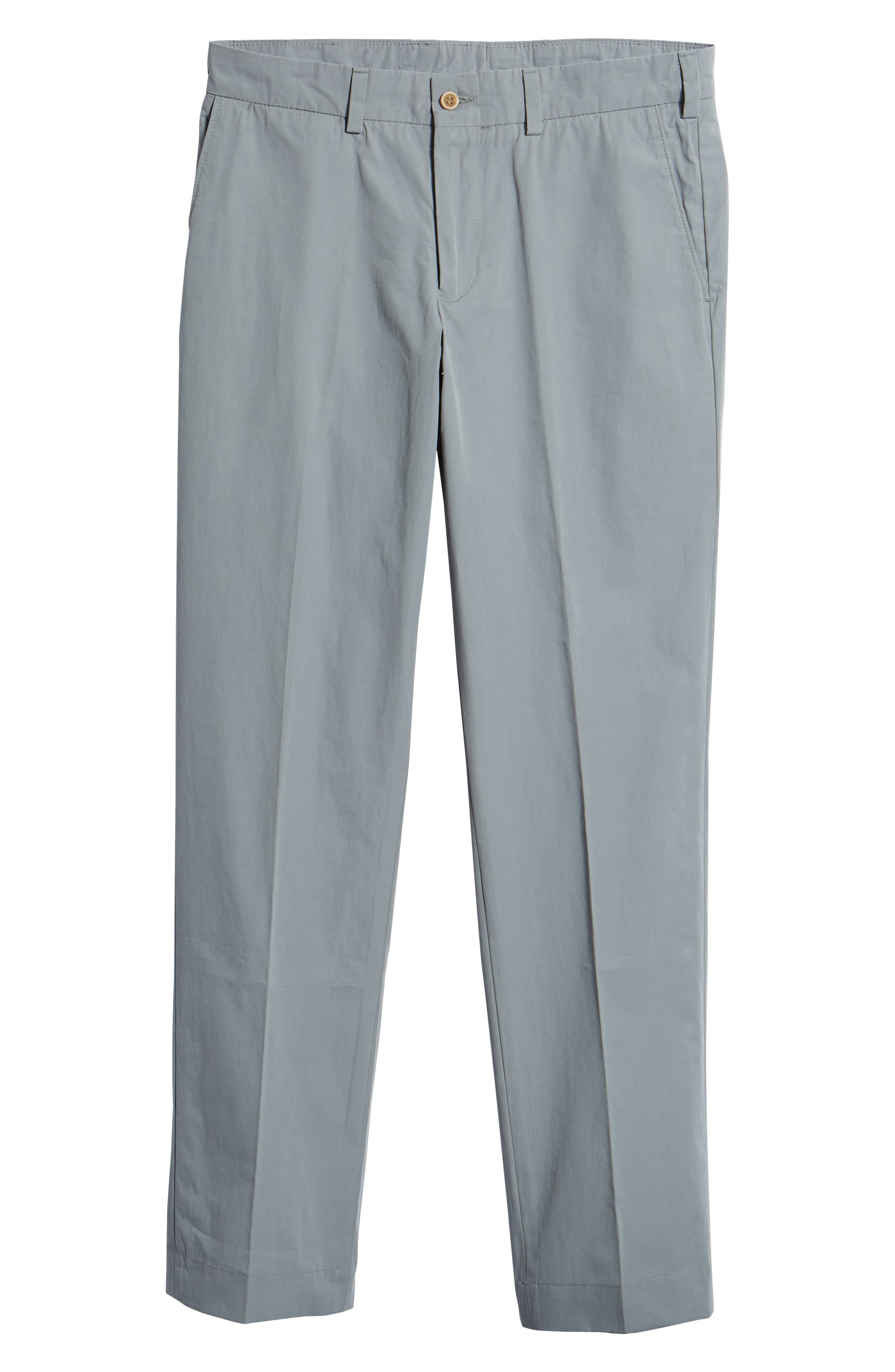 M3 Straight Fit Flat Front Tropical Poplin Pants,                             Alternate thumbnail 6, color,                             Nickel