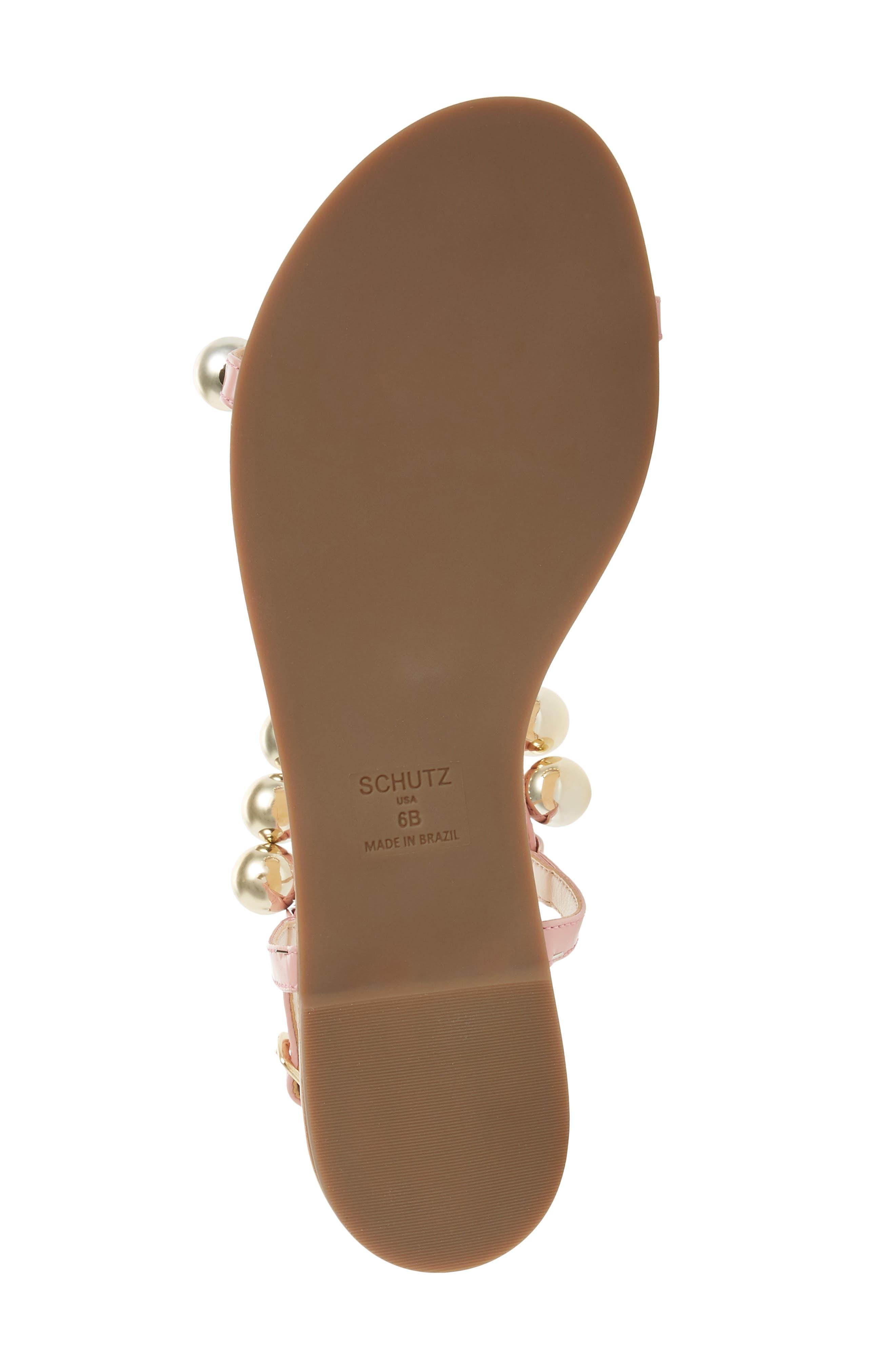 Hebe Ankle Strap Sandal,                             Alternate thumbnail 6, color,                             Poppy Rose Leather