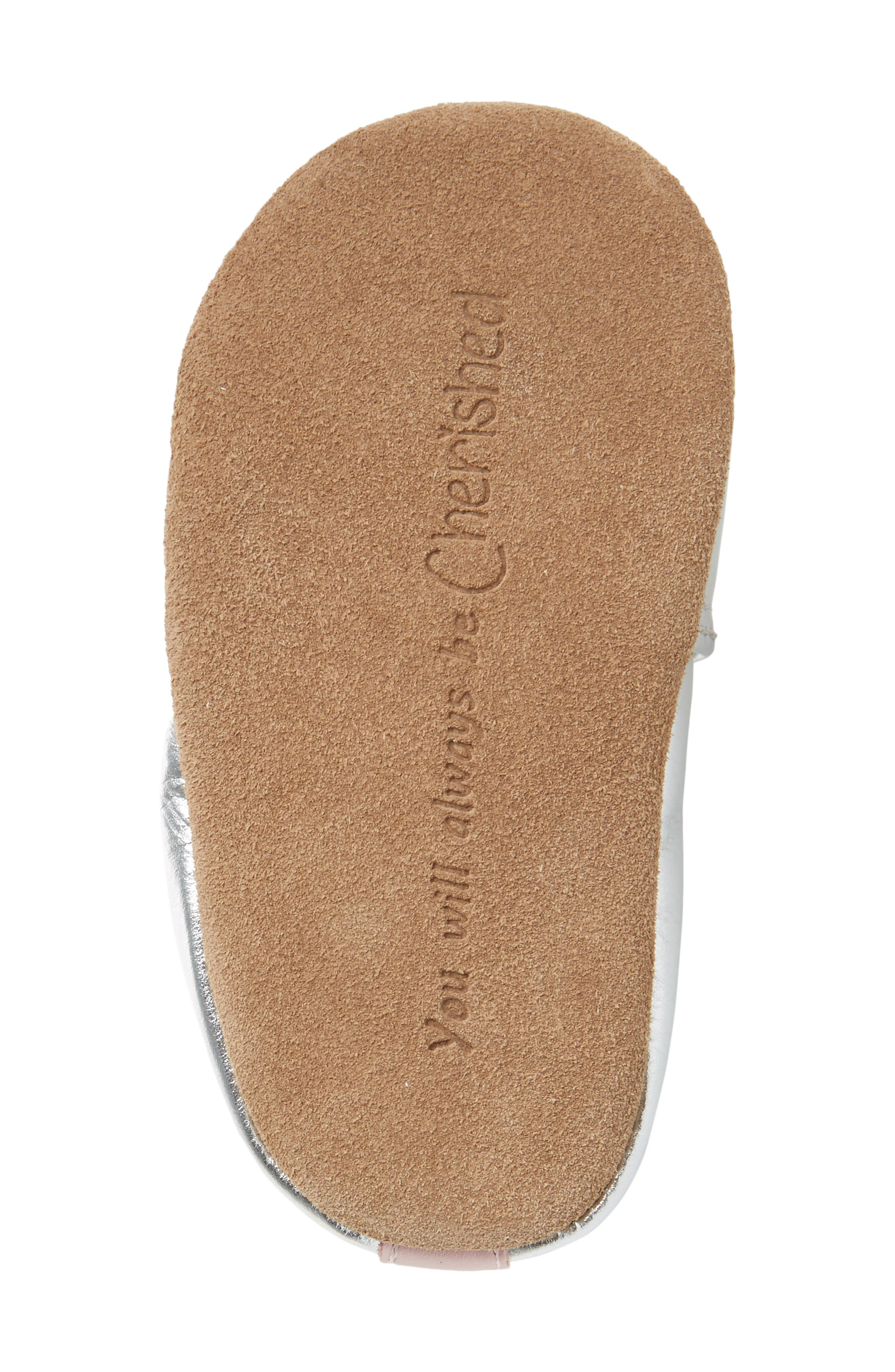 Loved & Cherished Moccasin Crib Shoe,                             Alternate thumbnail 6, color,                             Silver