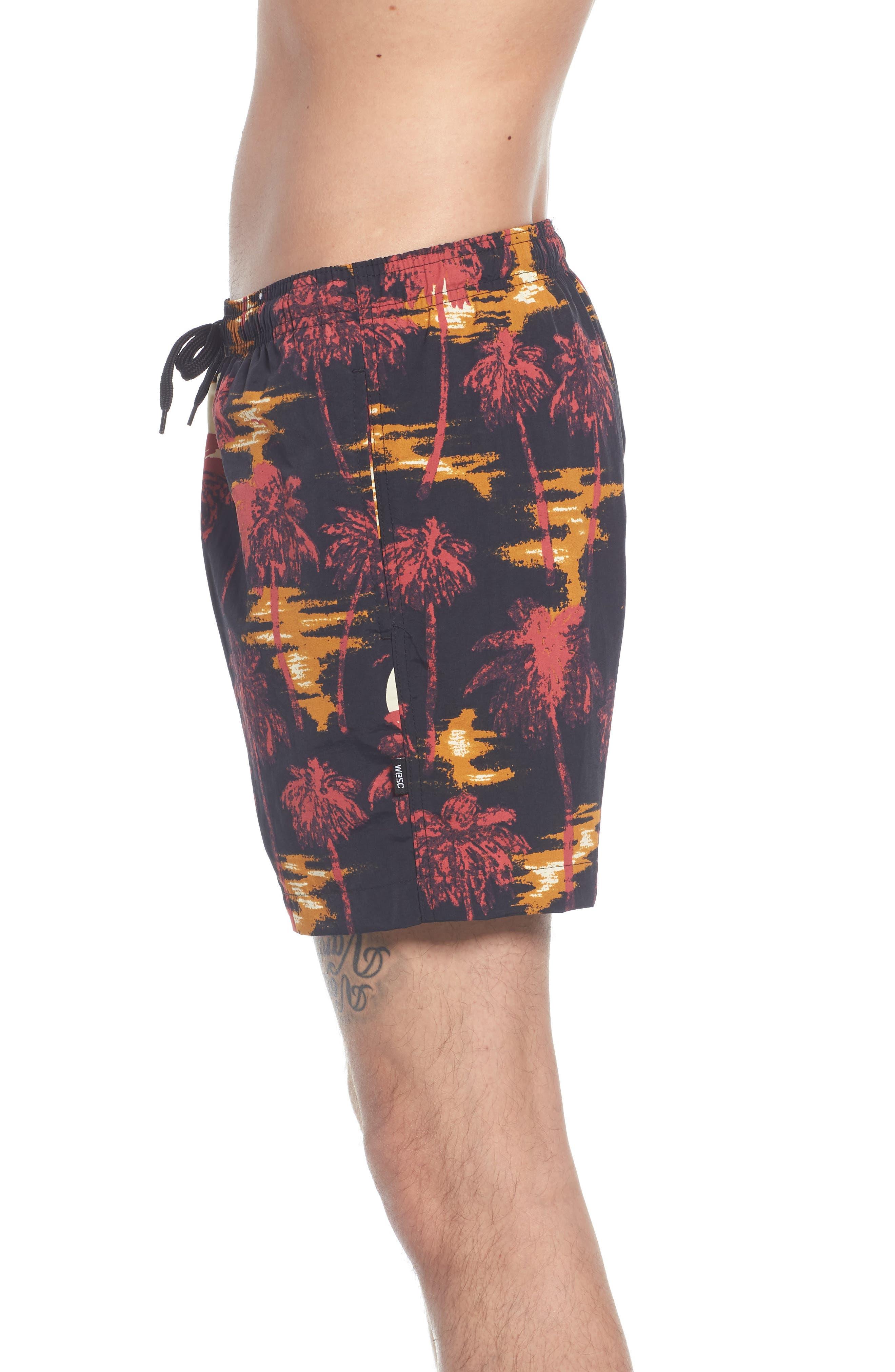 Zack Hawaii Swim Trunks,                             Alternate thumbnail 3, color,                             Hawaii Night