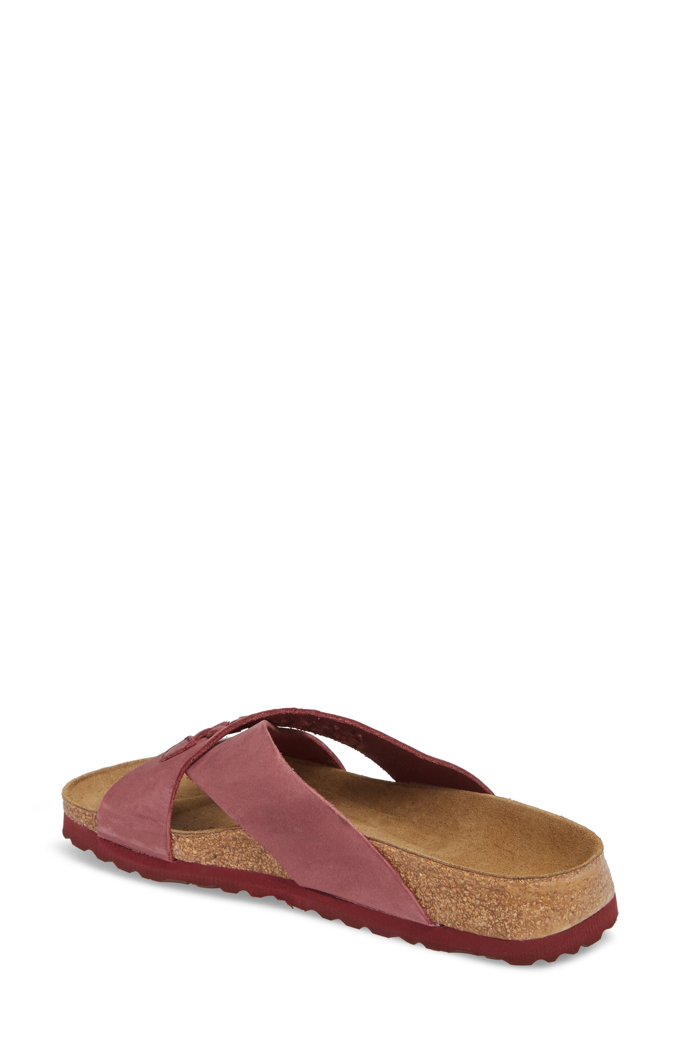 Papillio by Birkenstock Daytona Slide Sandal,                             Alternate thumbnail 2, color,                             Woven Wine Nubuck