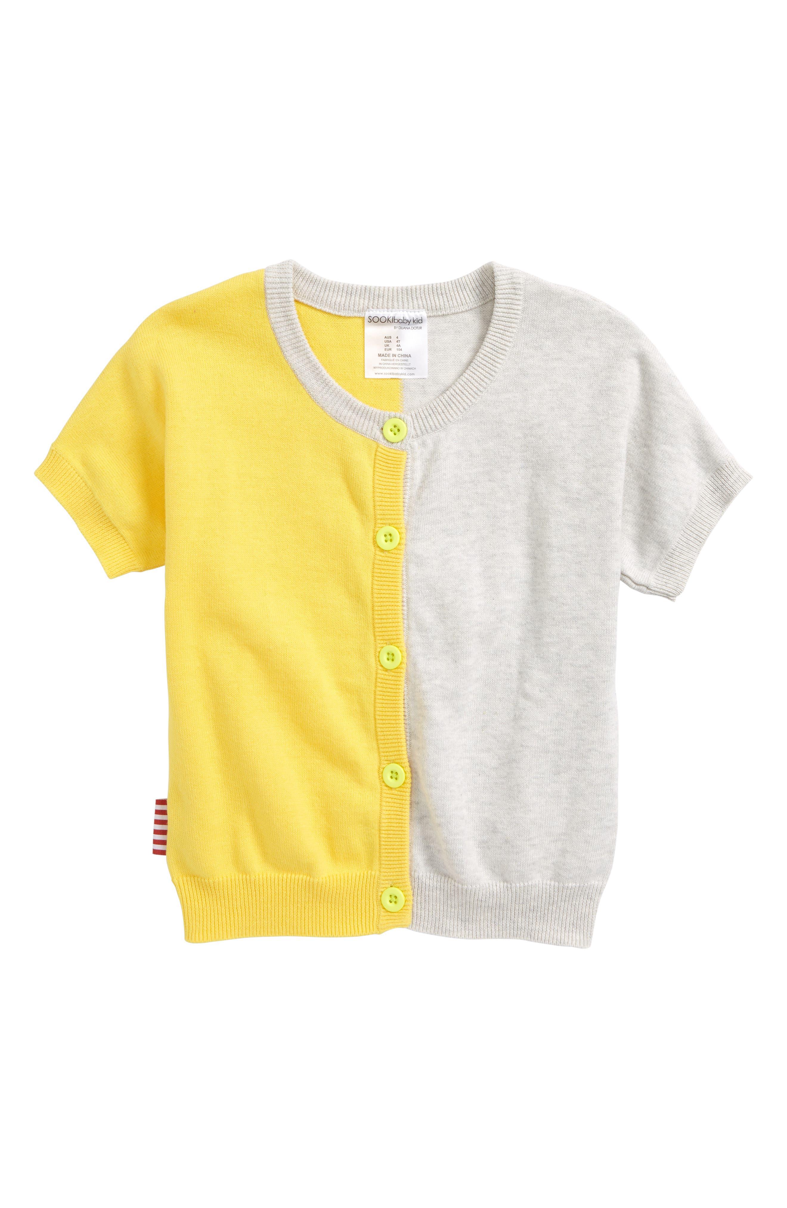 Alternate Image 1 Selected - SOOKIbaby True Knit Lemon Cardigan (Baby & Toddler)