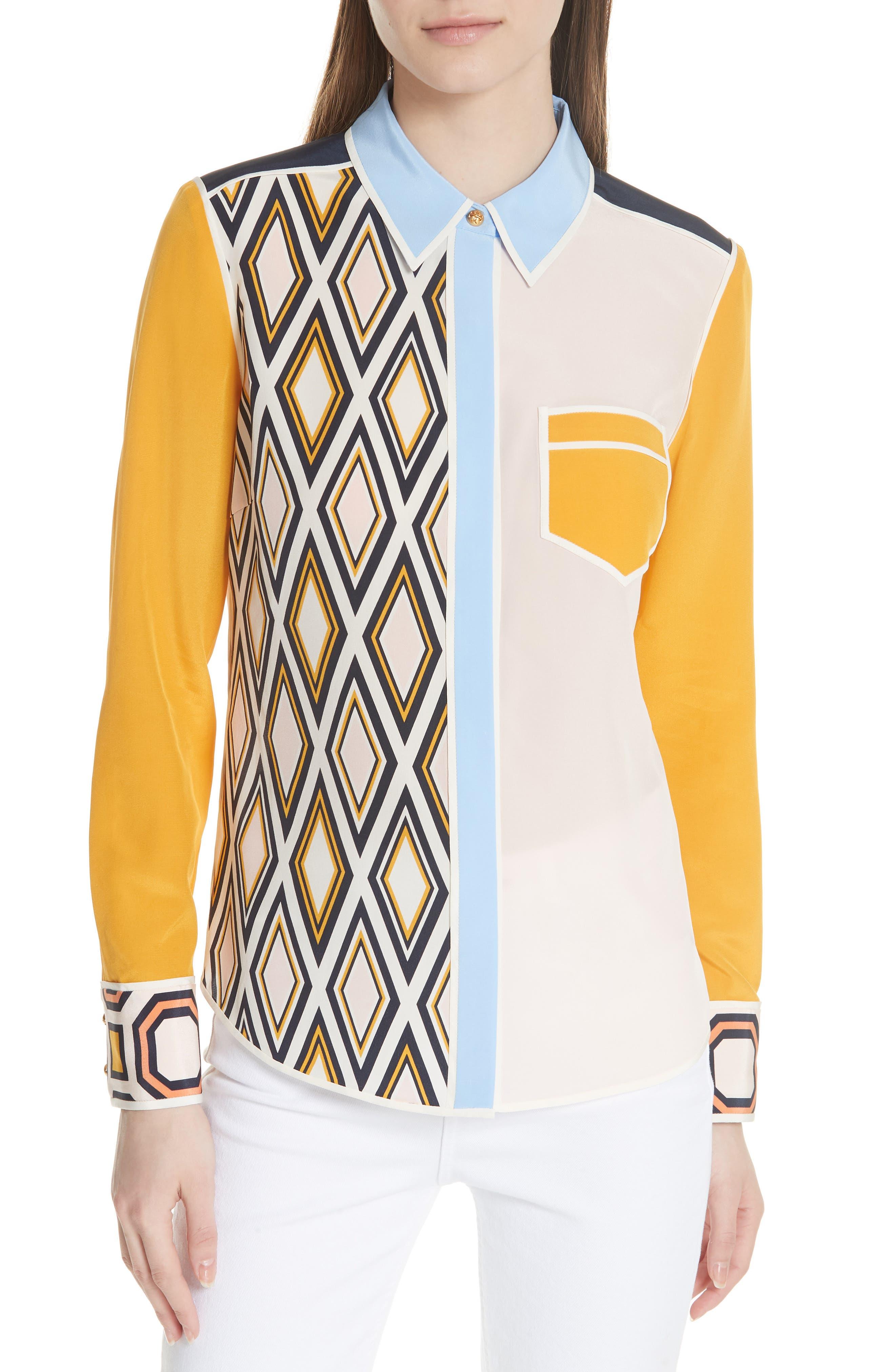 Main Image - Tory Burch Jackie Silk Shirt