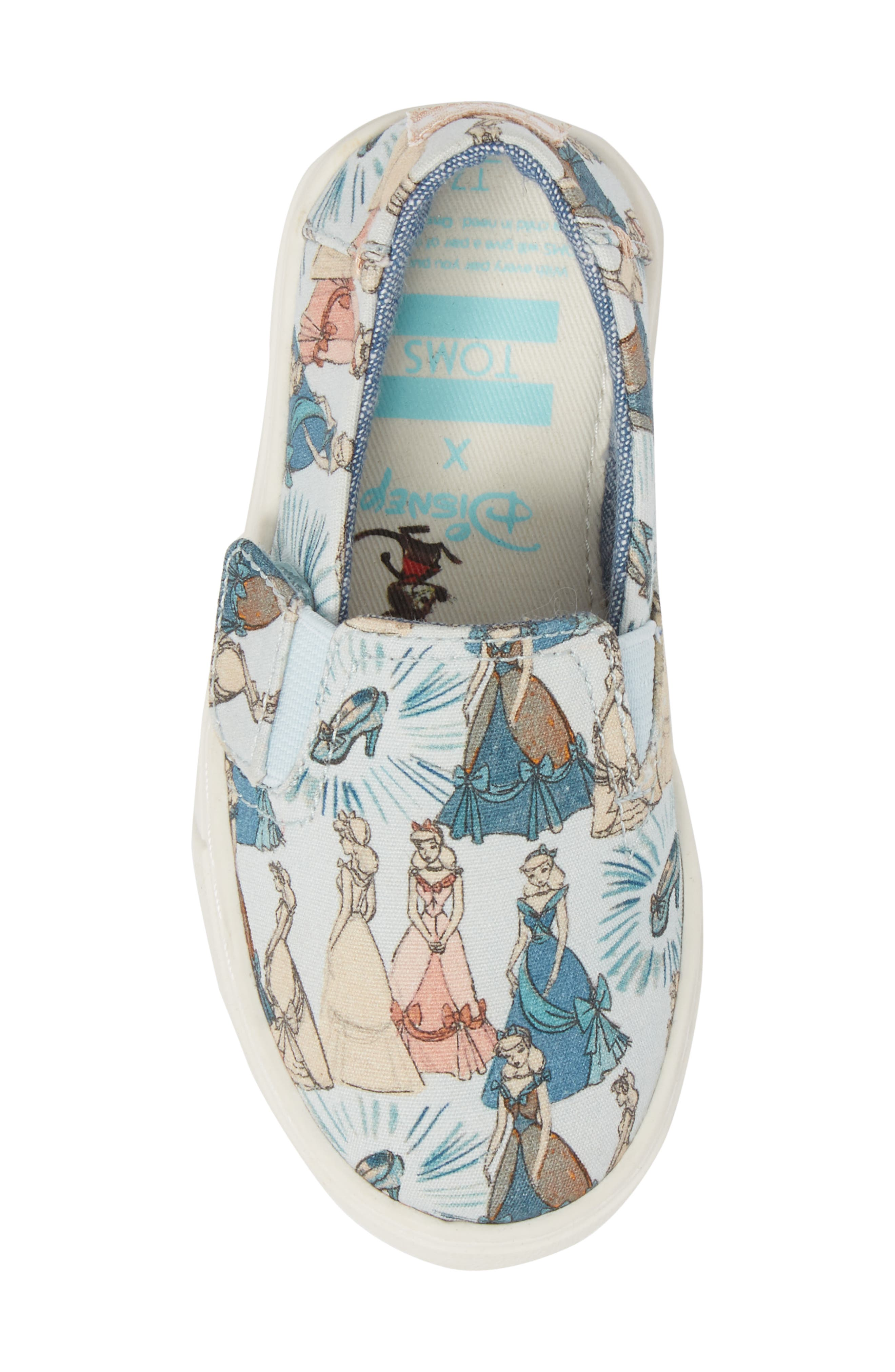 x Disney Luca Slip-On,                             Alternate thumbnail 5, color,                             Cinderella Blue Print