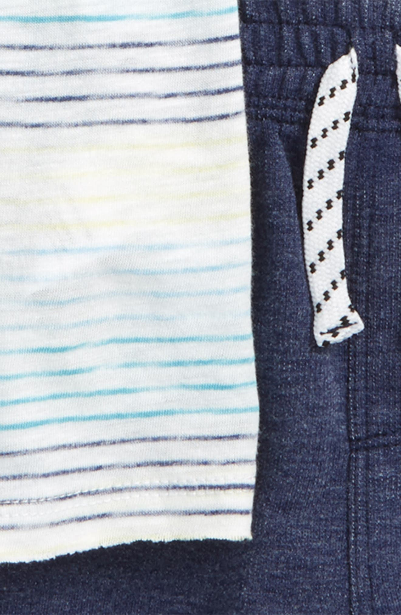 Stripe T-Shirt & Shorts Set,                             Alternate thumbnail 2, color,                             Full Sail