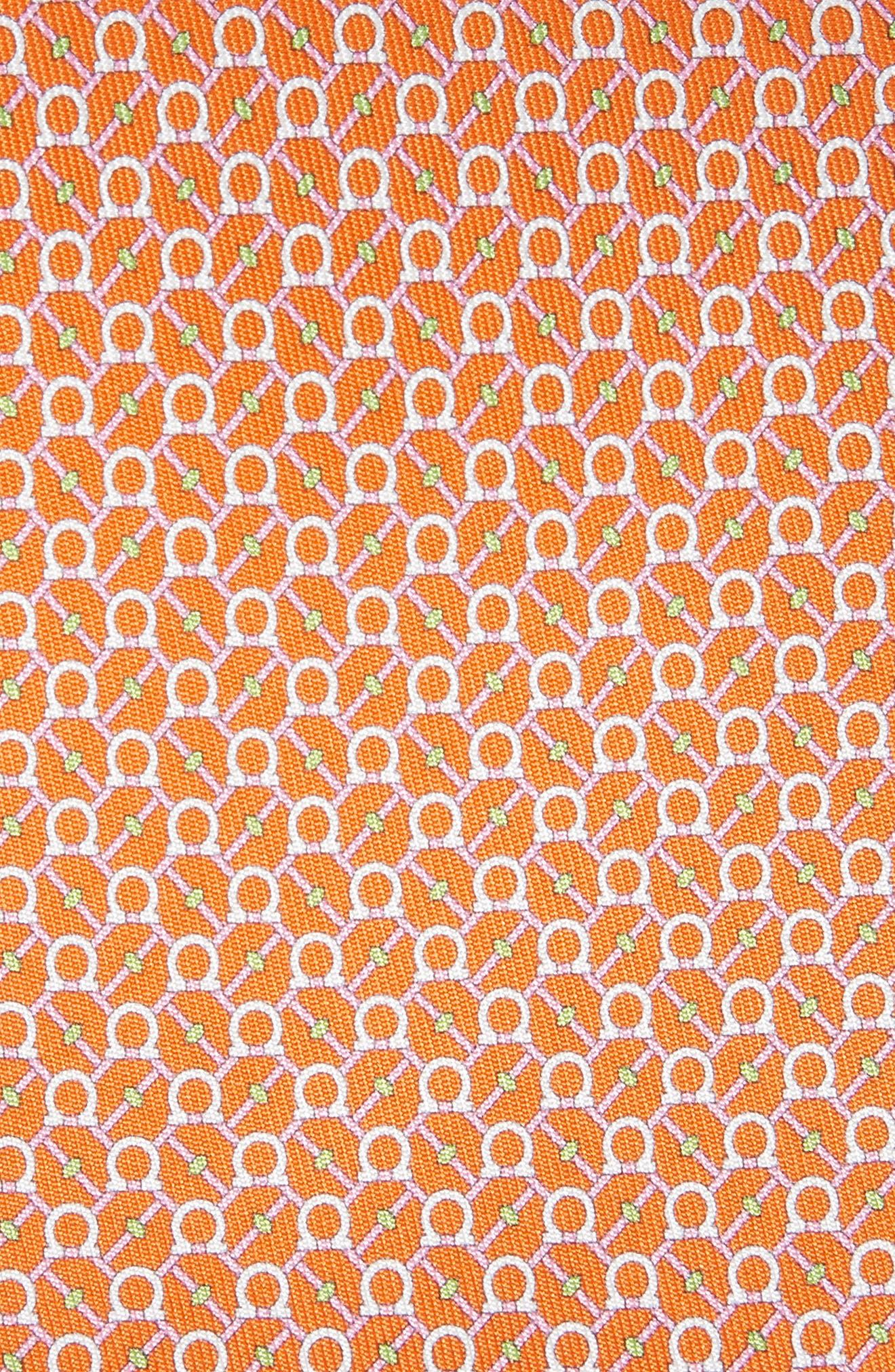 Eroe Geo Print Silk Tie,                             Alternate thumbnail 2, color,                             Orange