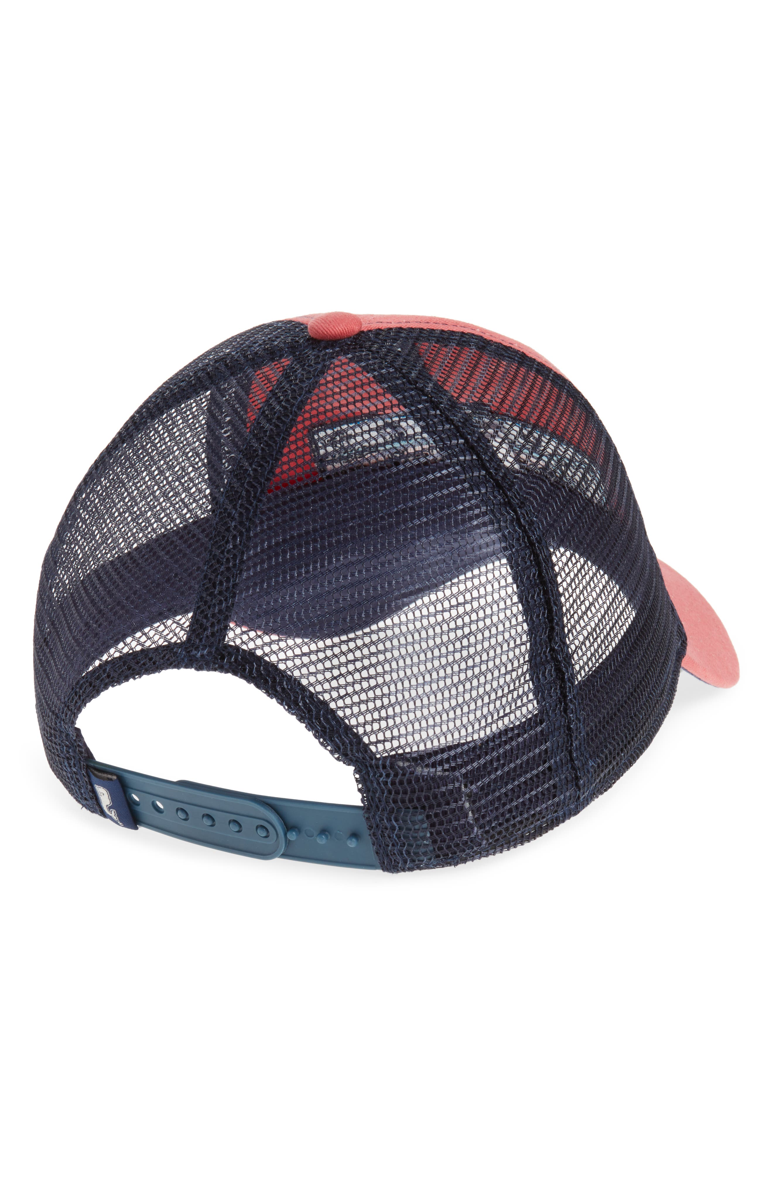 Low Profile Lax Patch Trucker Hat,                             Alternate thumbnail 2, color,                             Jetty Red