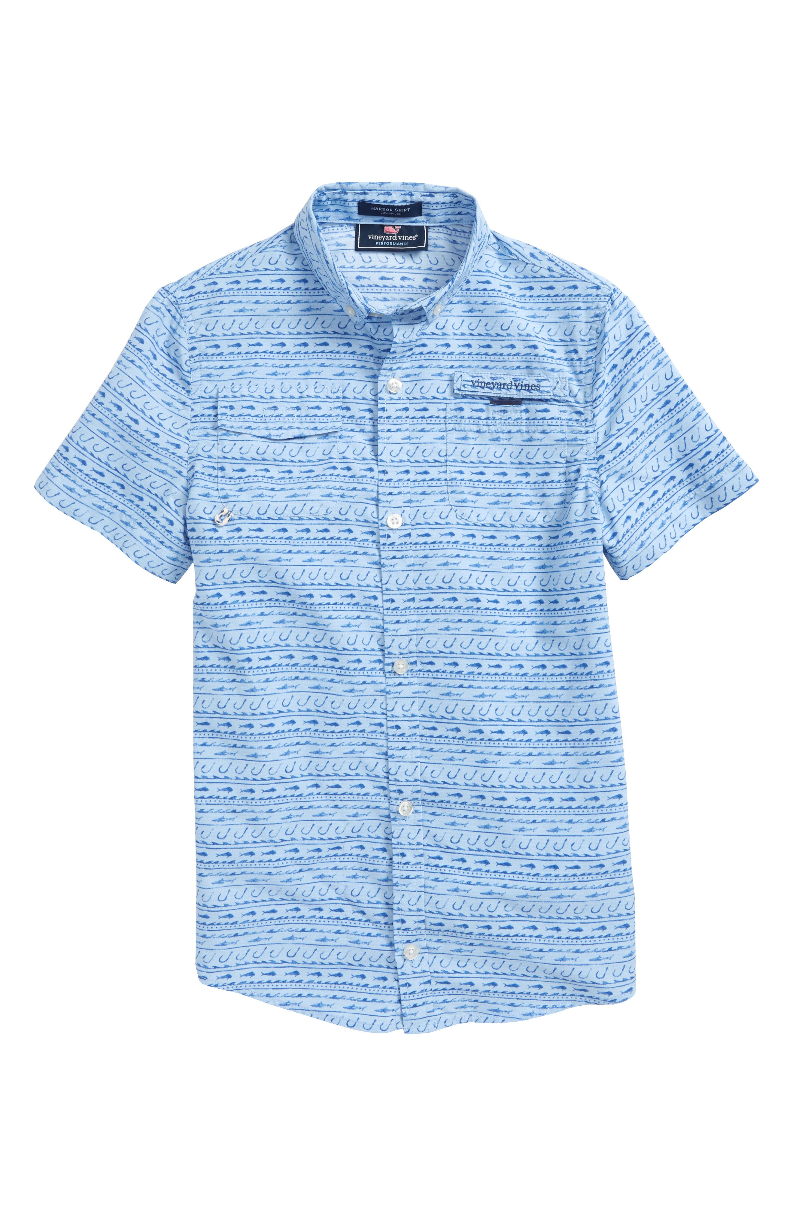 Alternate Image 1 Selected - vineyard vines Harbor Fish Hook Shirt (Big Boys)