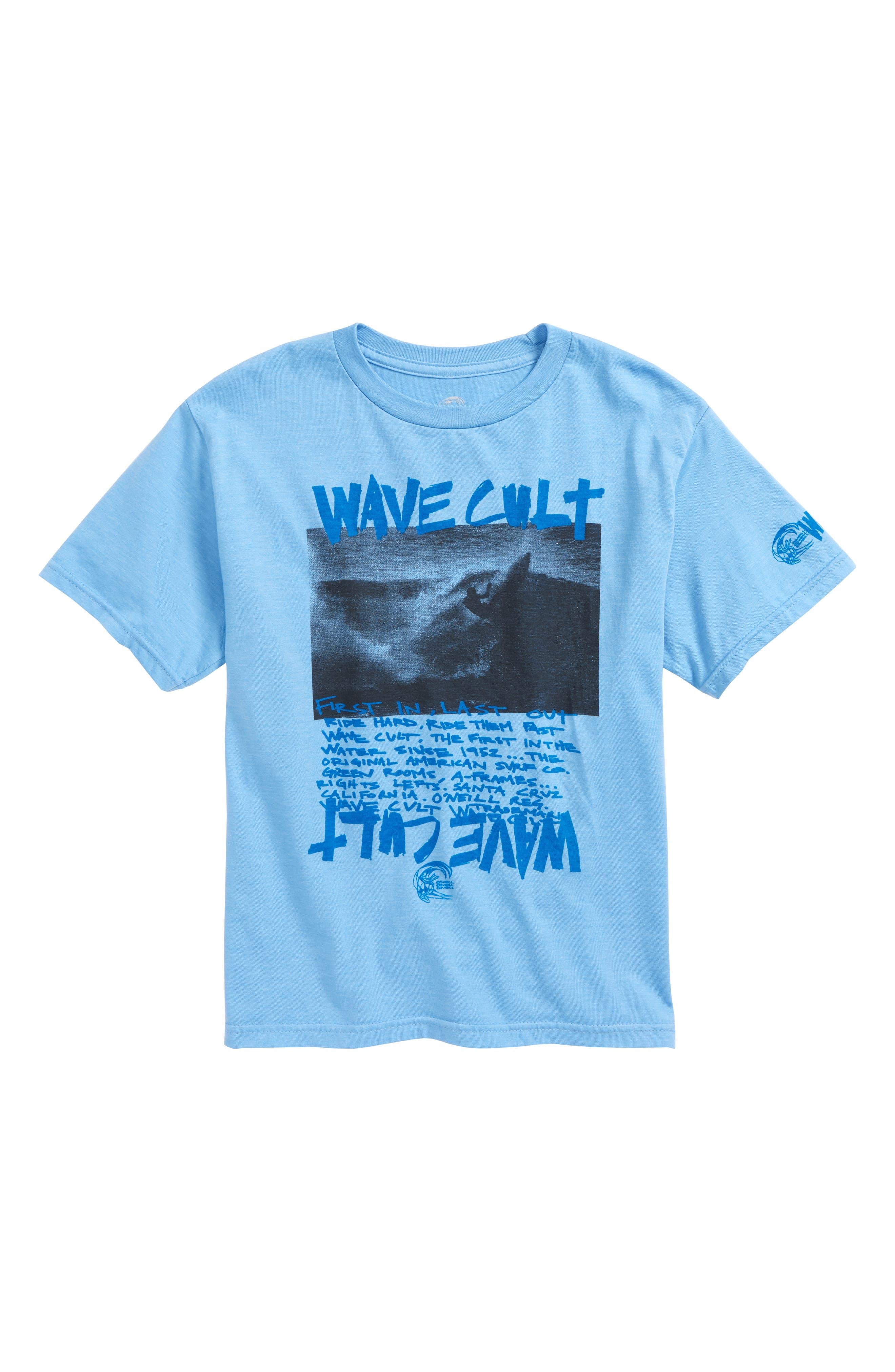 Wave Cult T-Shirt,                             Main thumbnail 1, color,                             Light Blue Heather