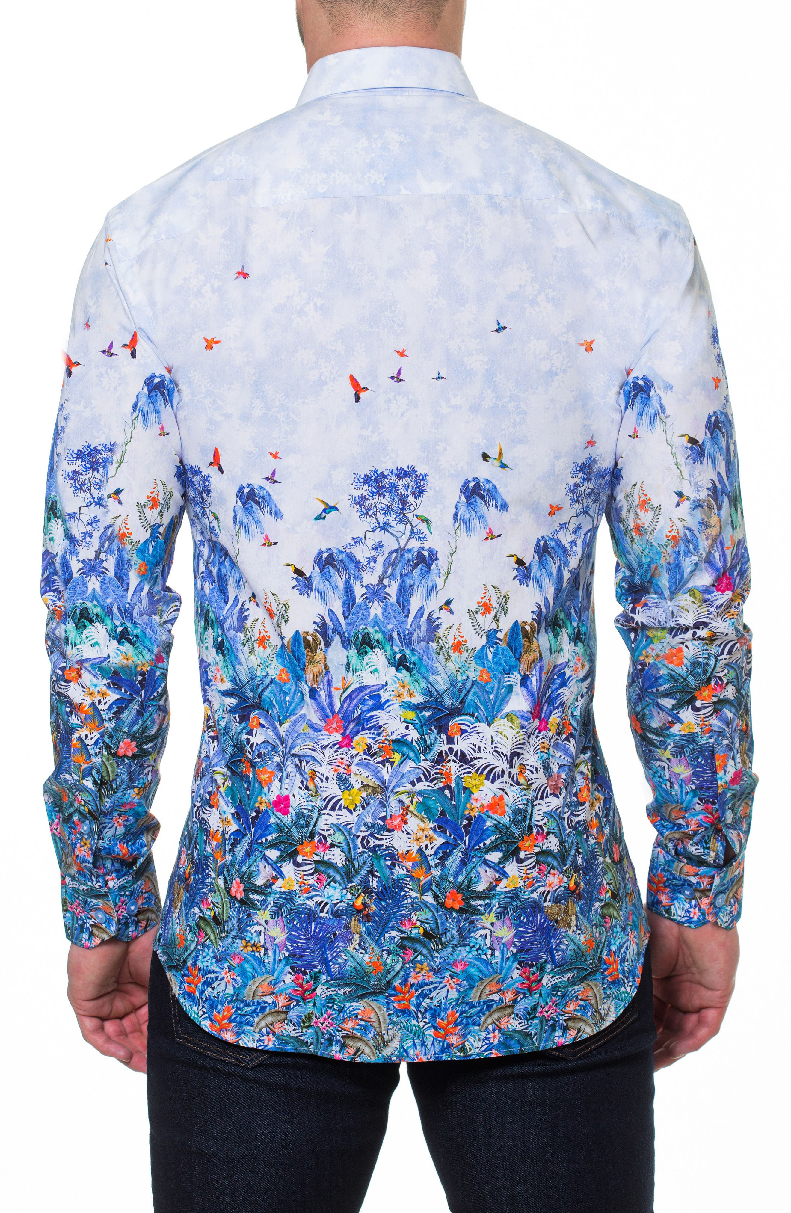 Luxor Amazon Slim Fit Print Sport Shirt,                             Alternate thumbnail 2, color,                             Blue