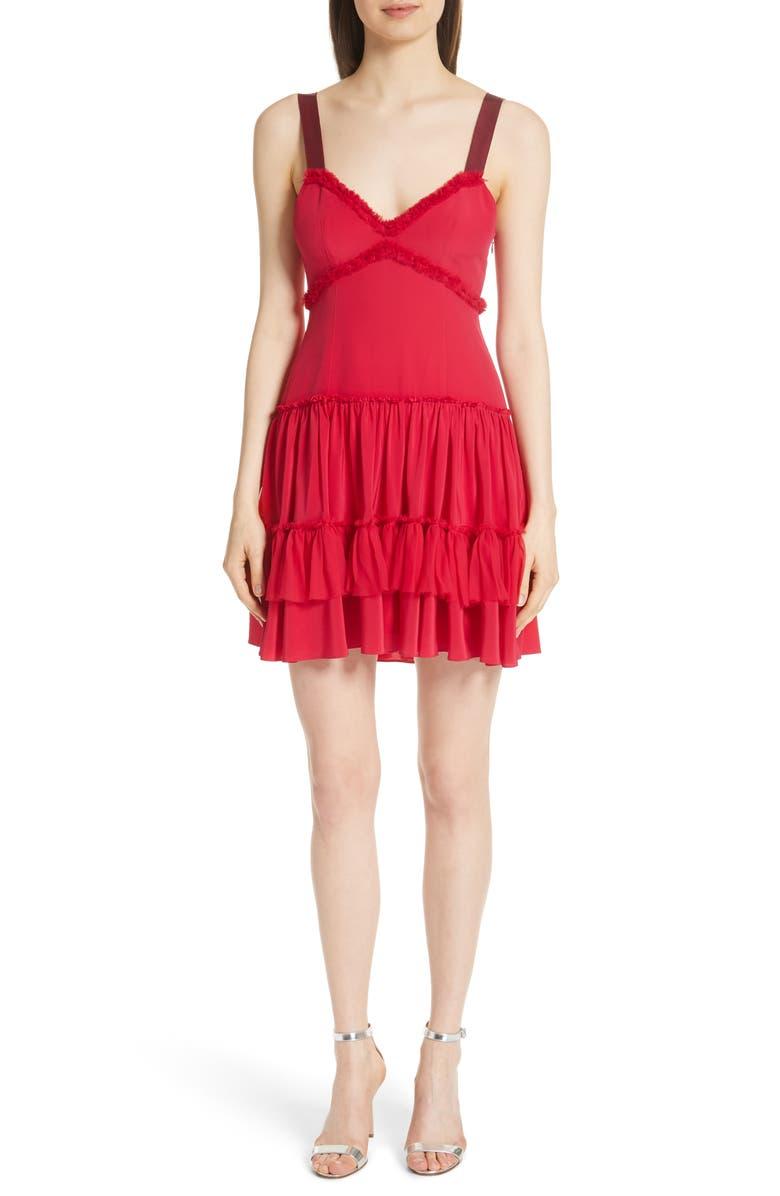 Livia Ruffle Hem Silk Dress