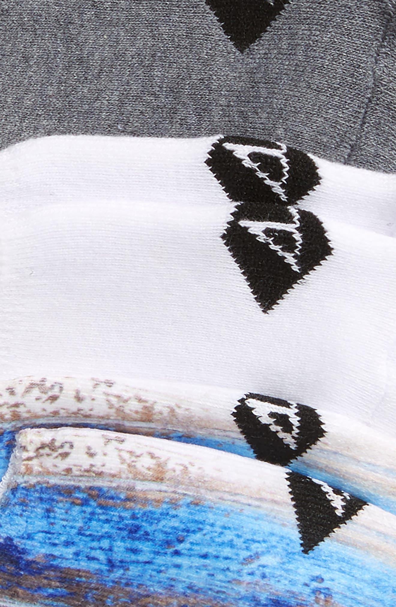 Assorted 3-Pack Liner Socks,                             Alternate thumbnail 2, color,                             Skydiver Assorted