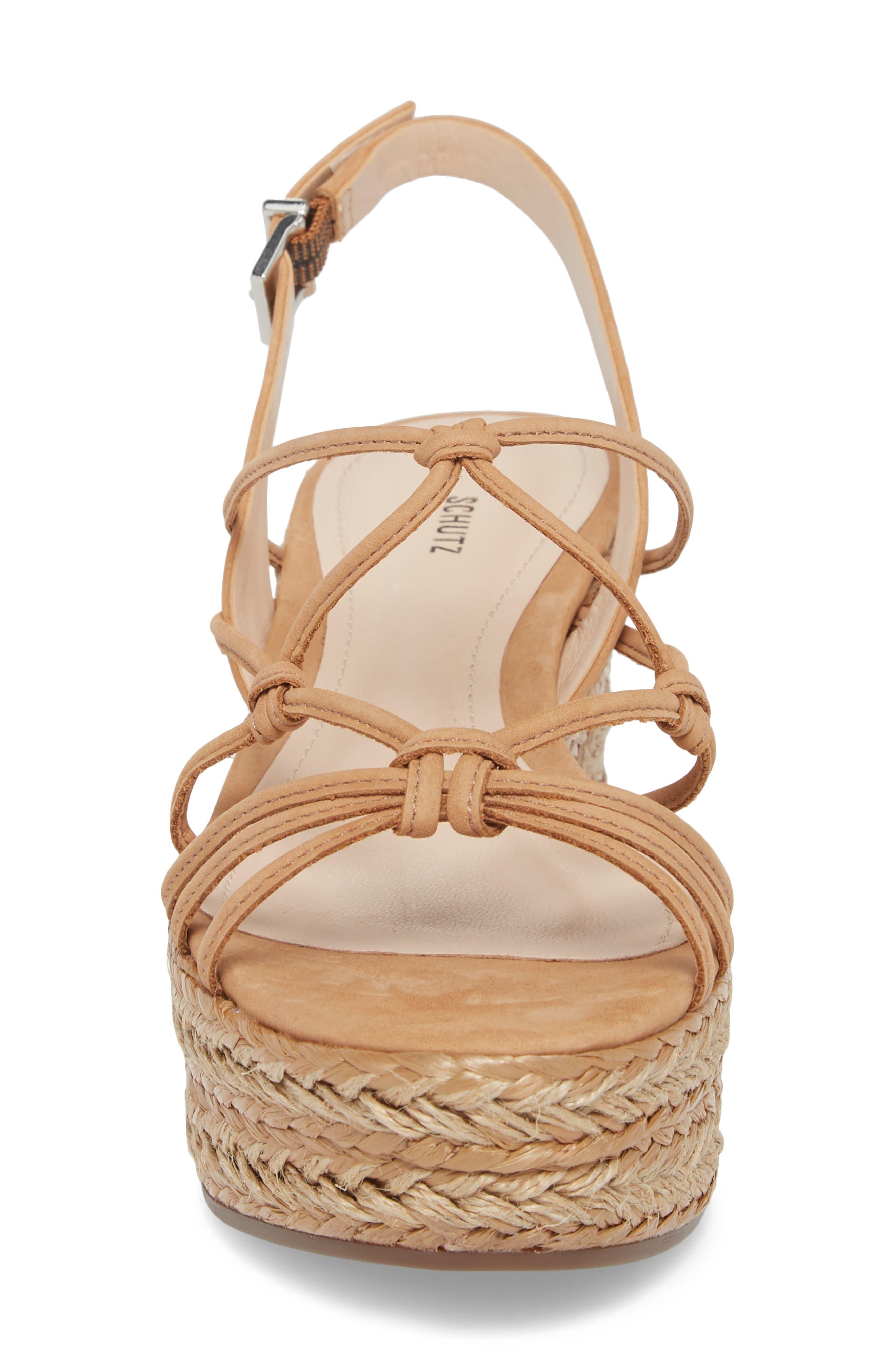 Latussa Platform Espadrille Sandal,                             Alternate thumbnail 4, color,                             Desert Leather