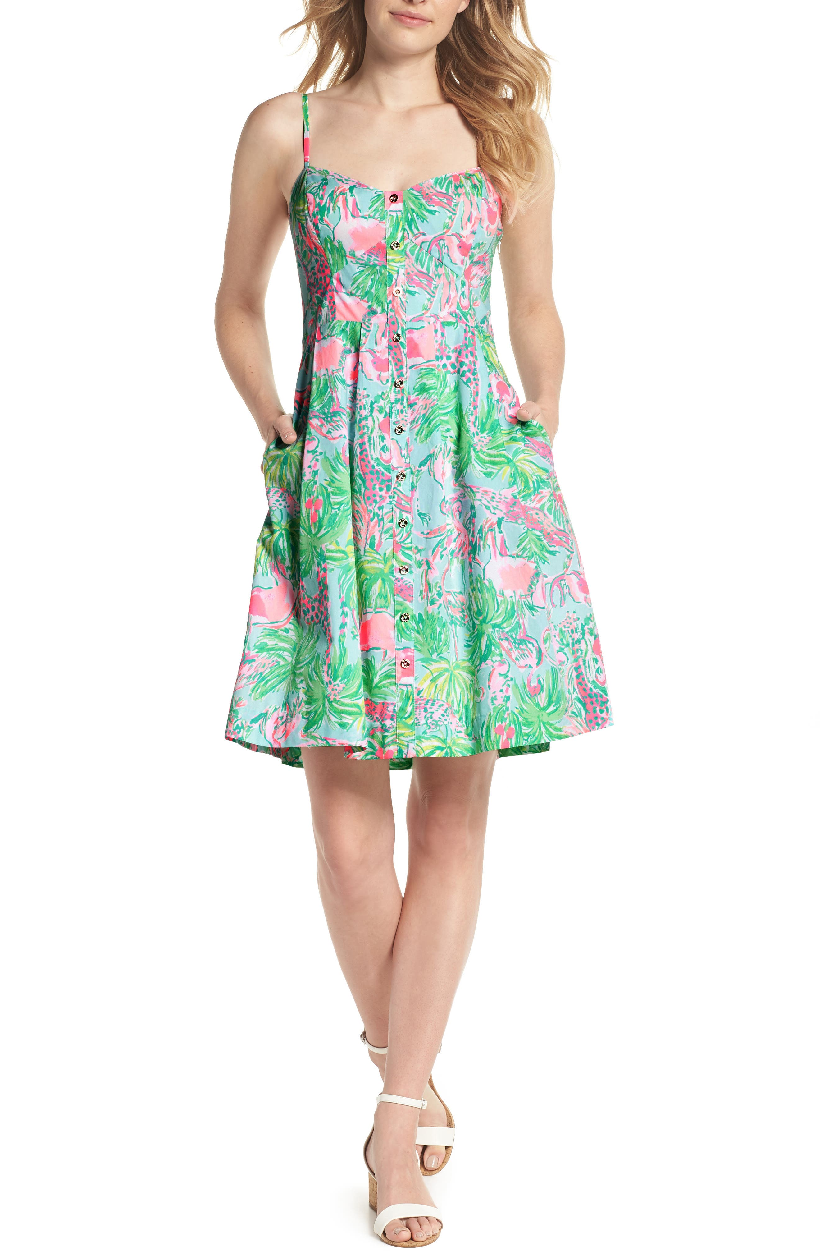 Easton Sundress,                             Main thumbnail 1, color,                             Seasalt Blue On Parade