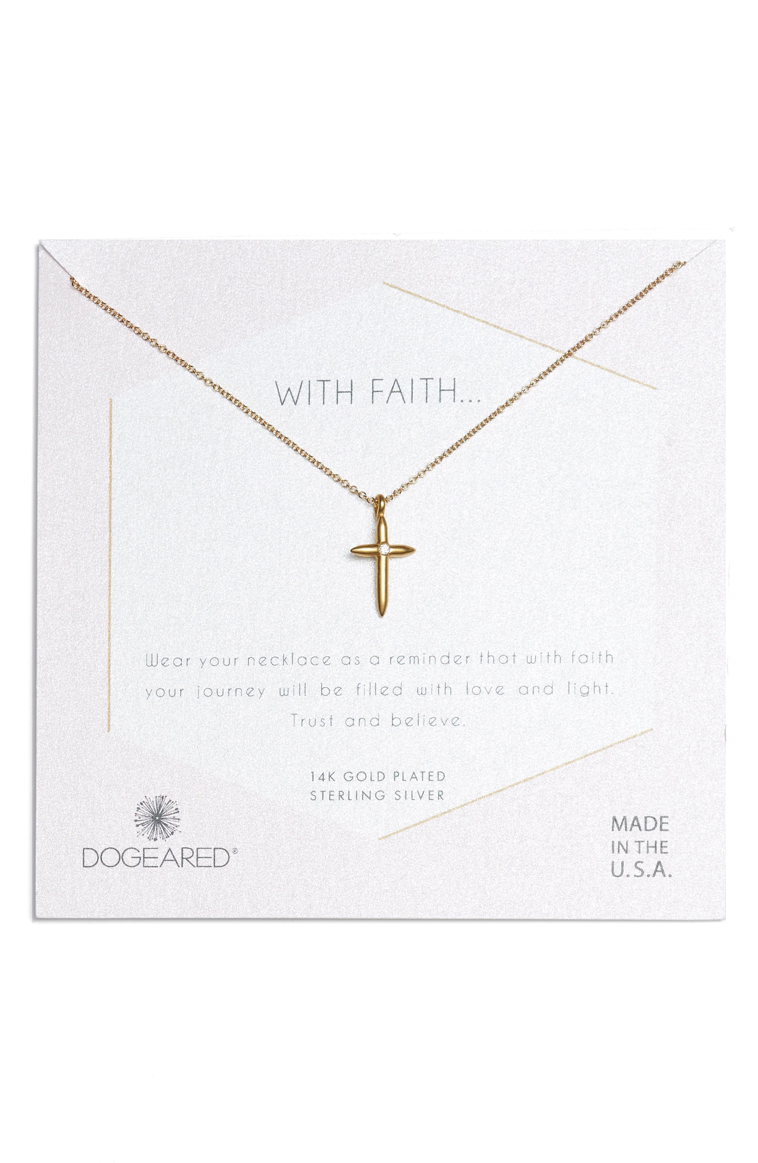 FAITH CROSS NECKLACE