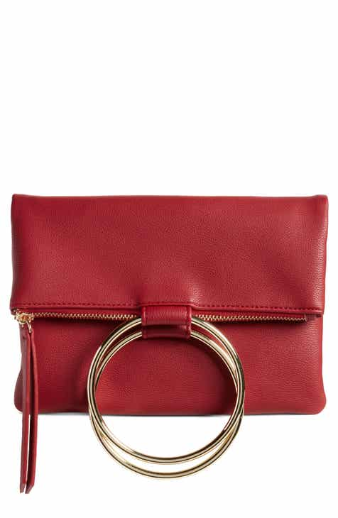 Chelsea28 Skyler Faux Leather Foldover Clutch