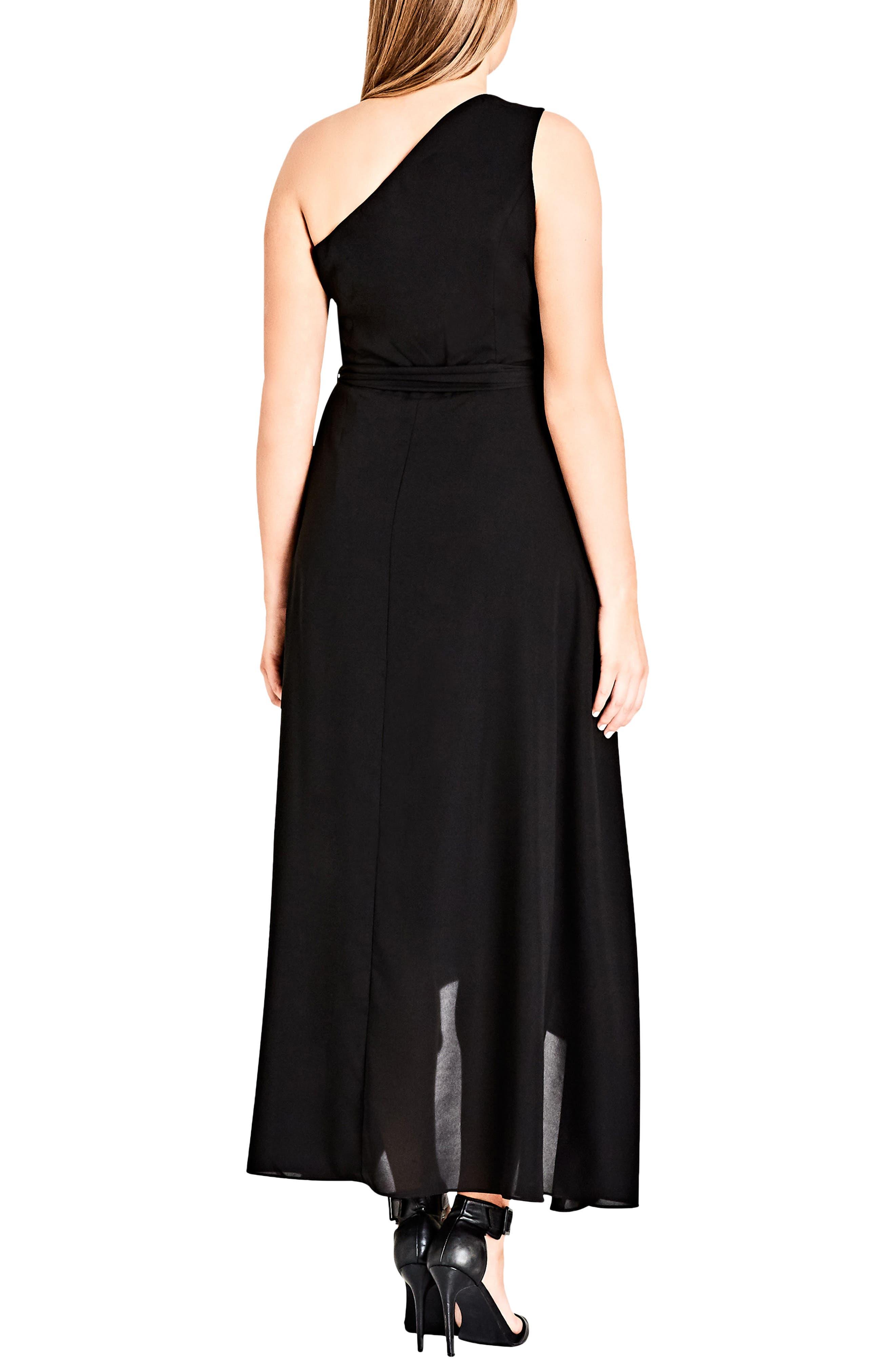 One Love Maxi Dress,                             Alternate thumbnail 2, color,                             Black