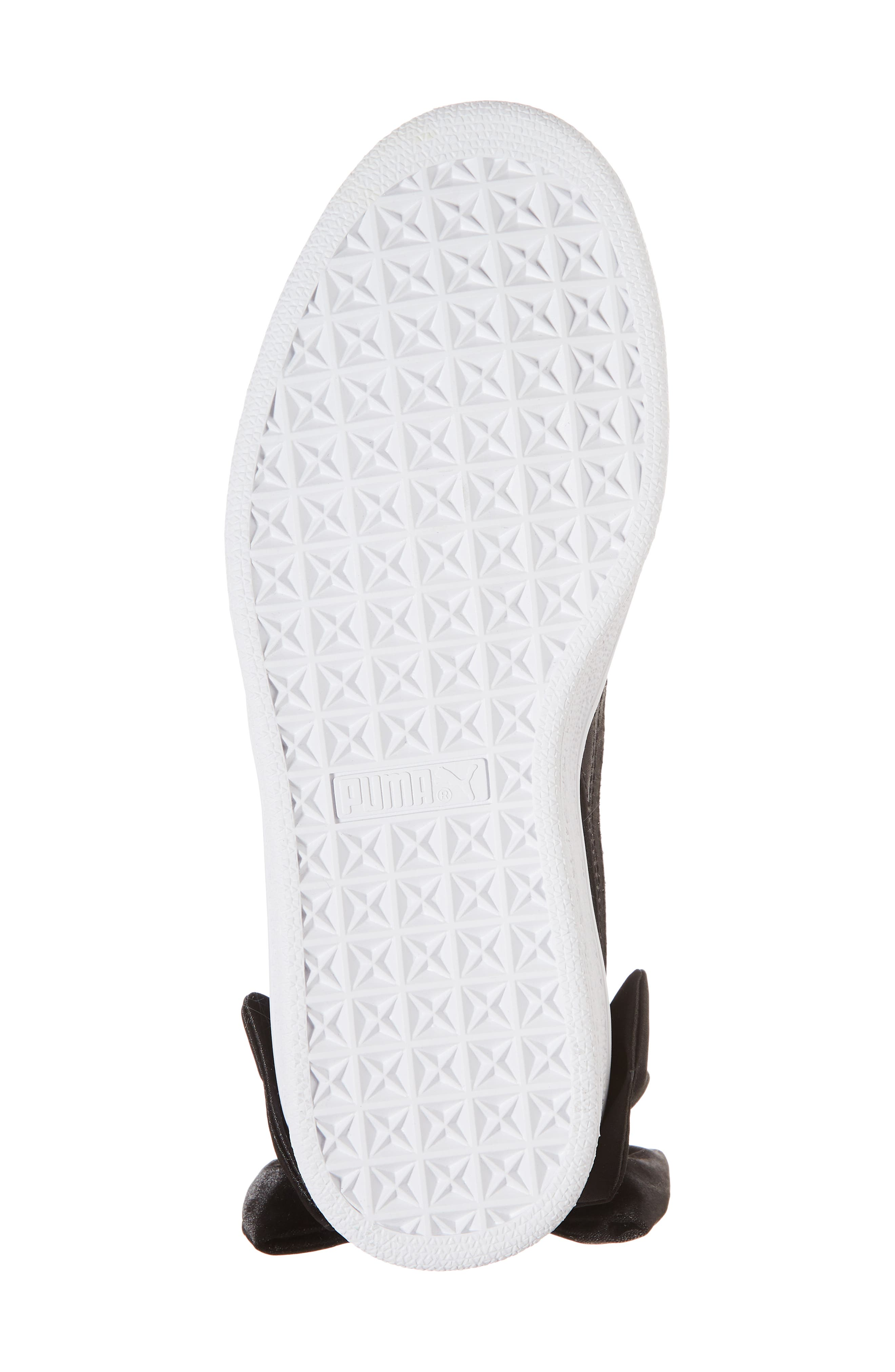 Bow Sneaker,                             Alternate thumbnail 6, color,                             Black/ Black