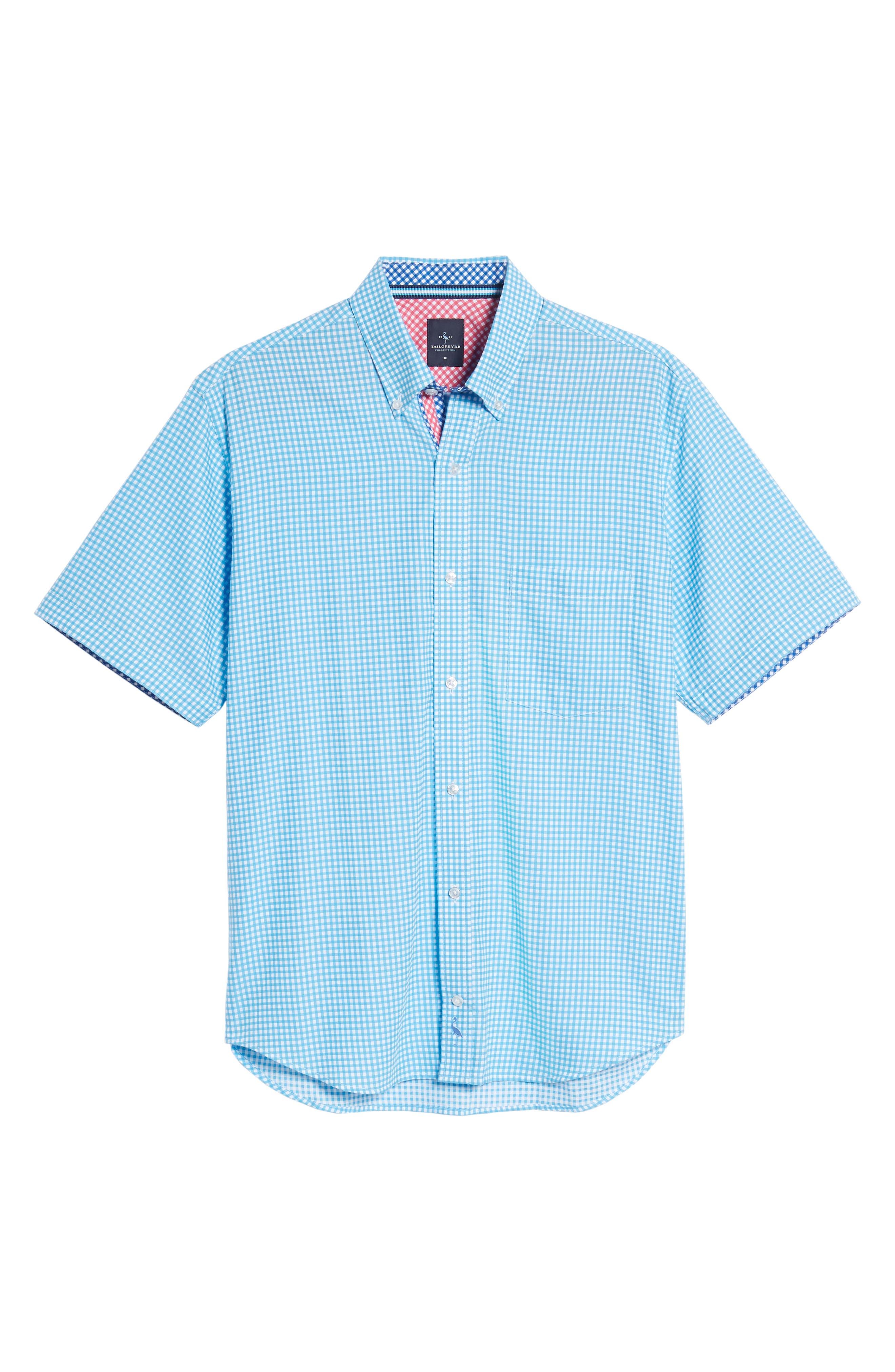 Aden Regular Fit Sport Shirt,                             Alternate thumbnail 6, color,                             Aqua
